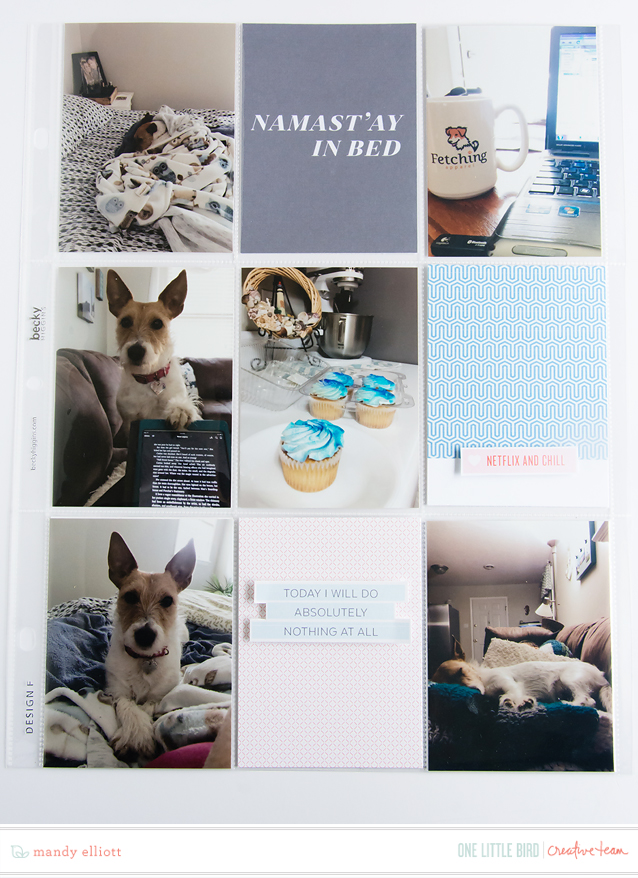 9x12 I Like You and Naps Layout | Featuring Elysian by One Little Bird Designs.