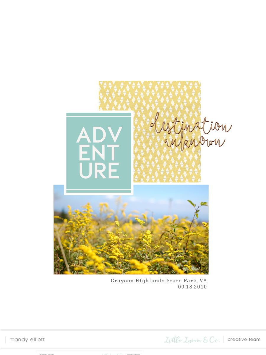 6x8 digital pocket page layout by Turquoise Avenue featuring templates and Wanderlust by Little Lamm & Co.