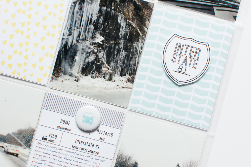 9x12 Pocket Page Layout by Mandy of Turquoise Avenue featuring Adventure designs by Paislee Press