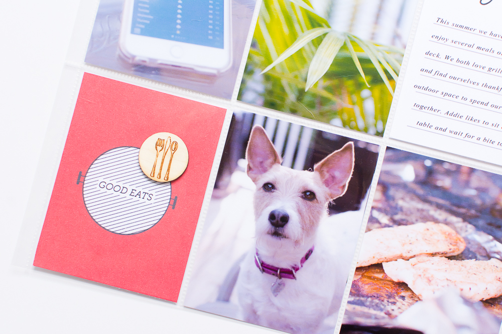 Simple, Easy 9x12 Pocket Page Scrapbook Layout | Featuring Backyard BBQ by Paislee Press