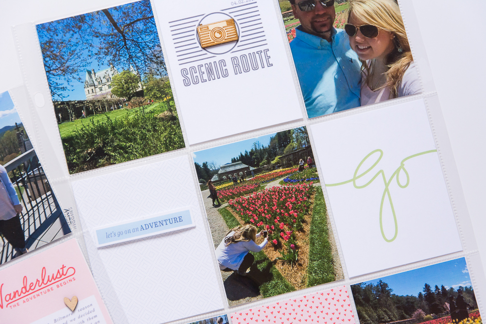 Step by Step Assemble Process for a Simple, Easy 9x12 Pocket Page Spread! | Featuring Roam by One Little Bird Designs