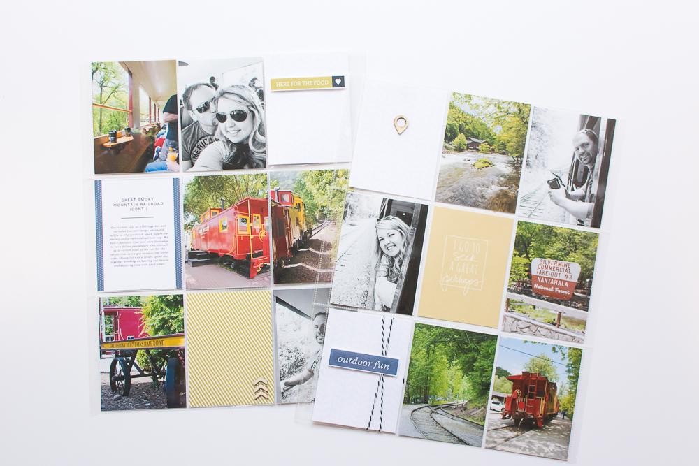#PocketPageThursday    9x12 Pocket Page Scrapbook Layout featuring One Little Bird Designs