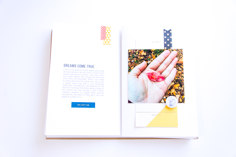 Journal card via Studio Calico Storyboard Documenter Kit. Flair from Feed Your Craft.