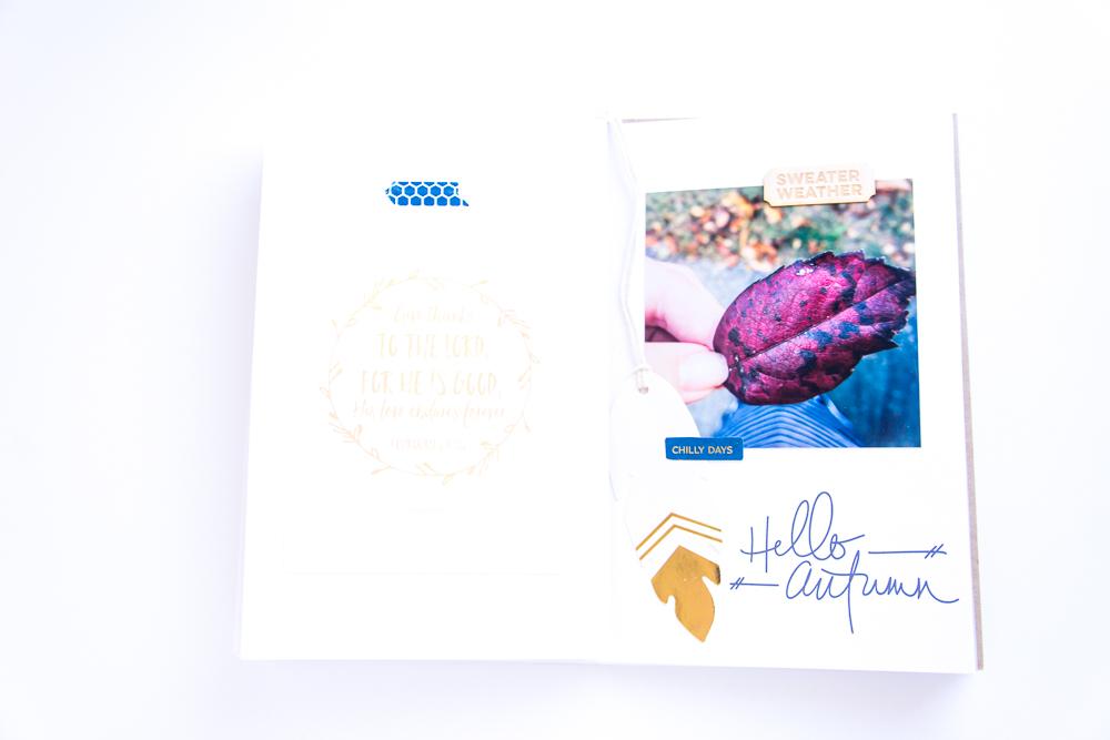 Hello Autumn digital stamp from Equinox by One Little Bird.