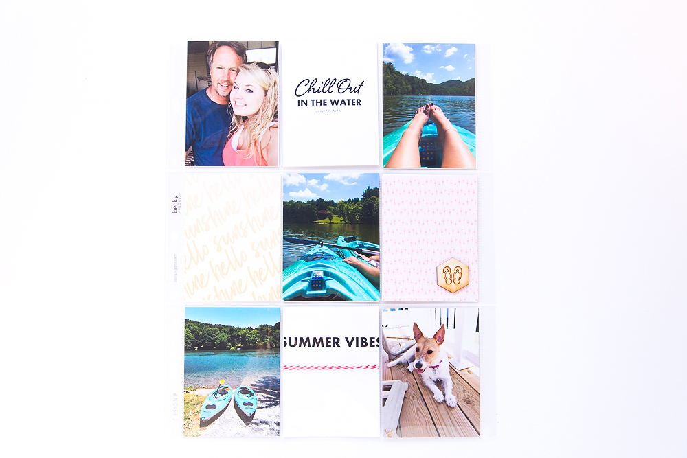 9x12 Summertime Pocket Page featuring Looks Like Summer Digital Stamps by Kellie Stamps