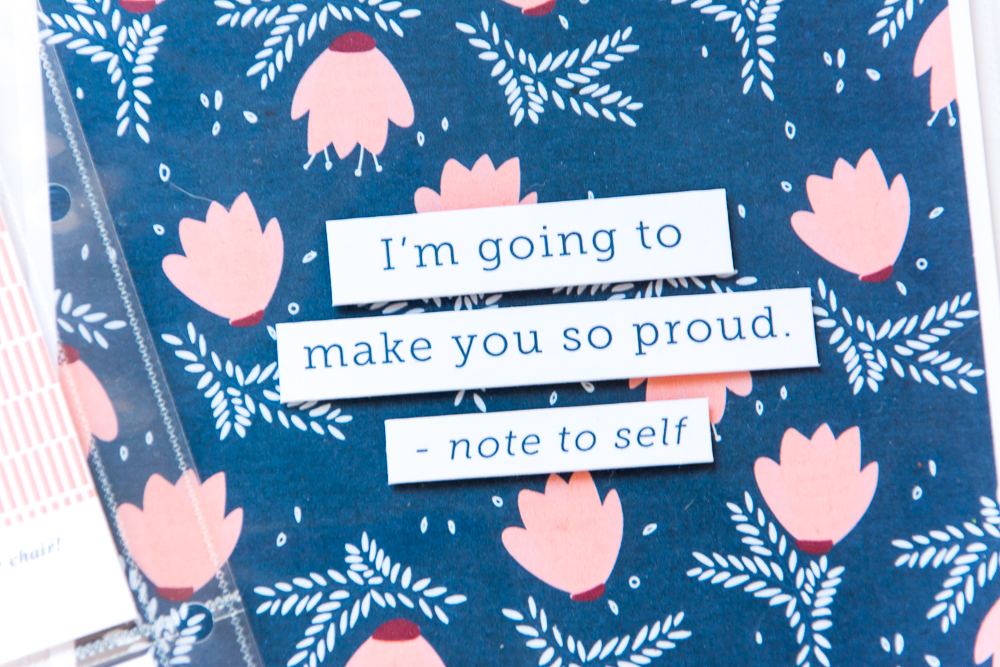 Happy Thoughts | 6x8 Pocket Page Spread featuring Positive Vibes by Paislee Press