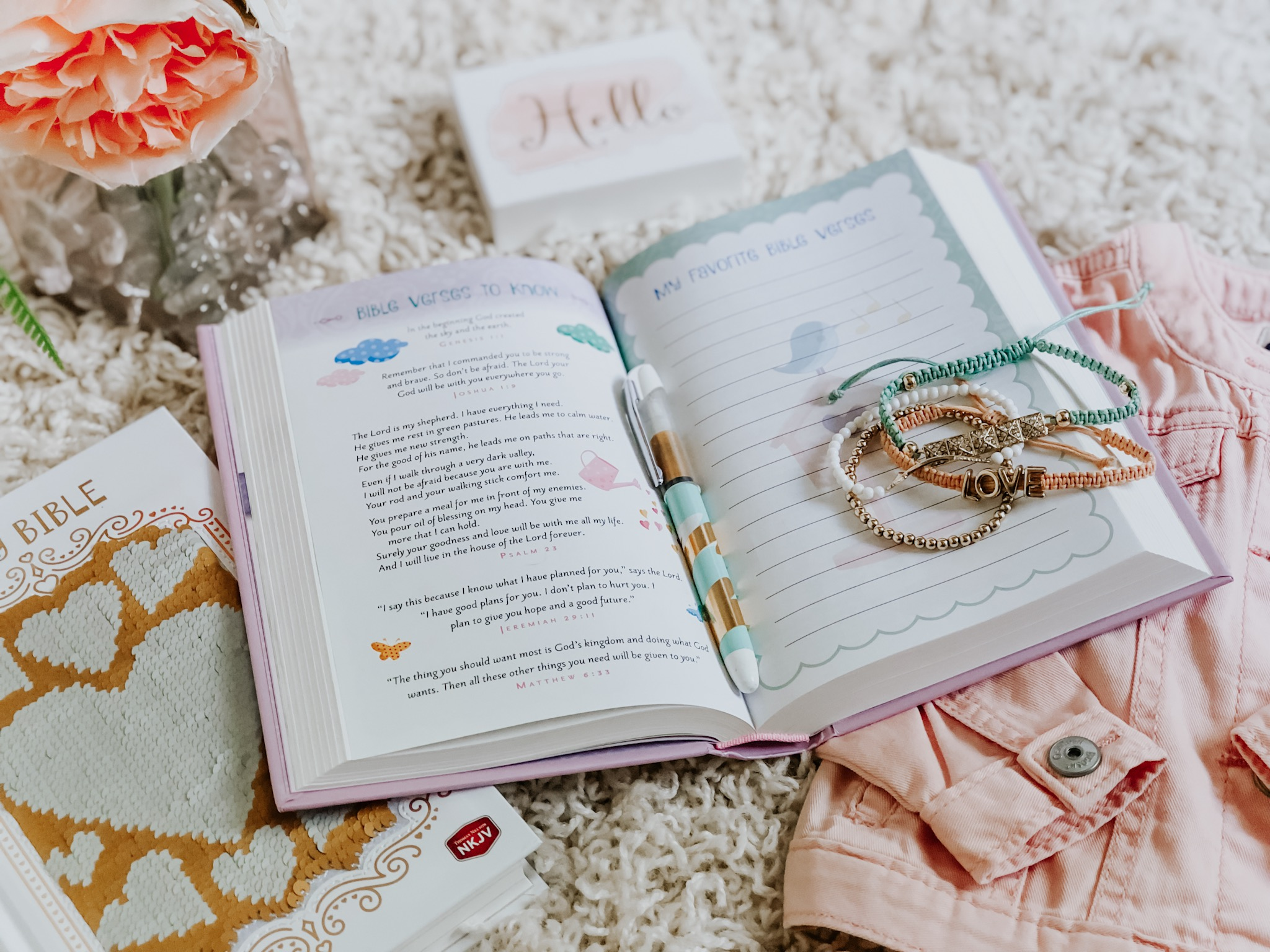 A ★★★★★ Review of the Sparkle and Change Holy Bible for Girls | Available in Various Versions Including International Children's Bible and New King James Version!