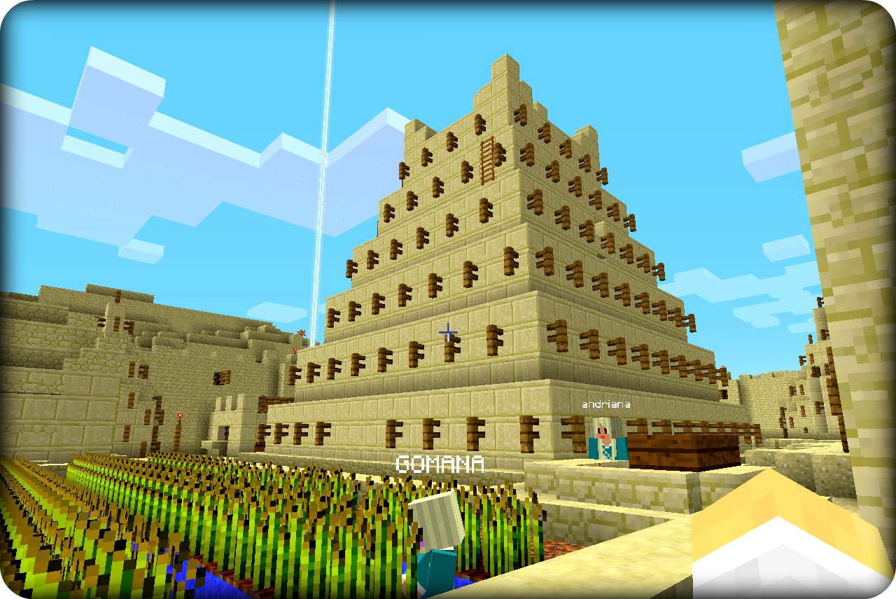 1st Graders Gomana and Andriana explore ancient lands with MinecraftEdu's World of Humanities