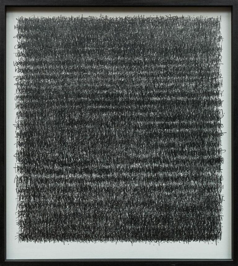 Paul Fry A Poem: The Journey & A Prayer 100 x 116cm graphite on canvas  S O L D