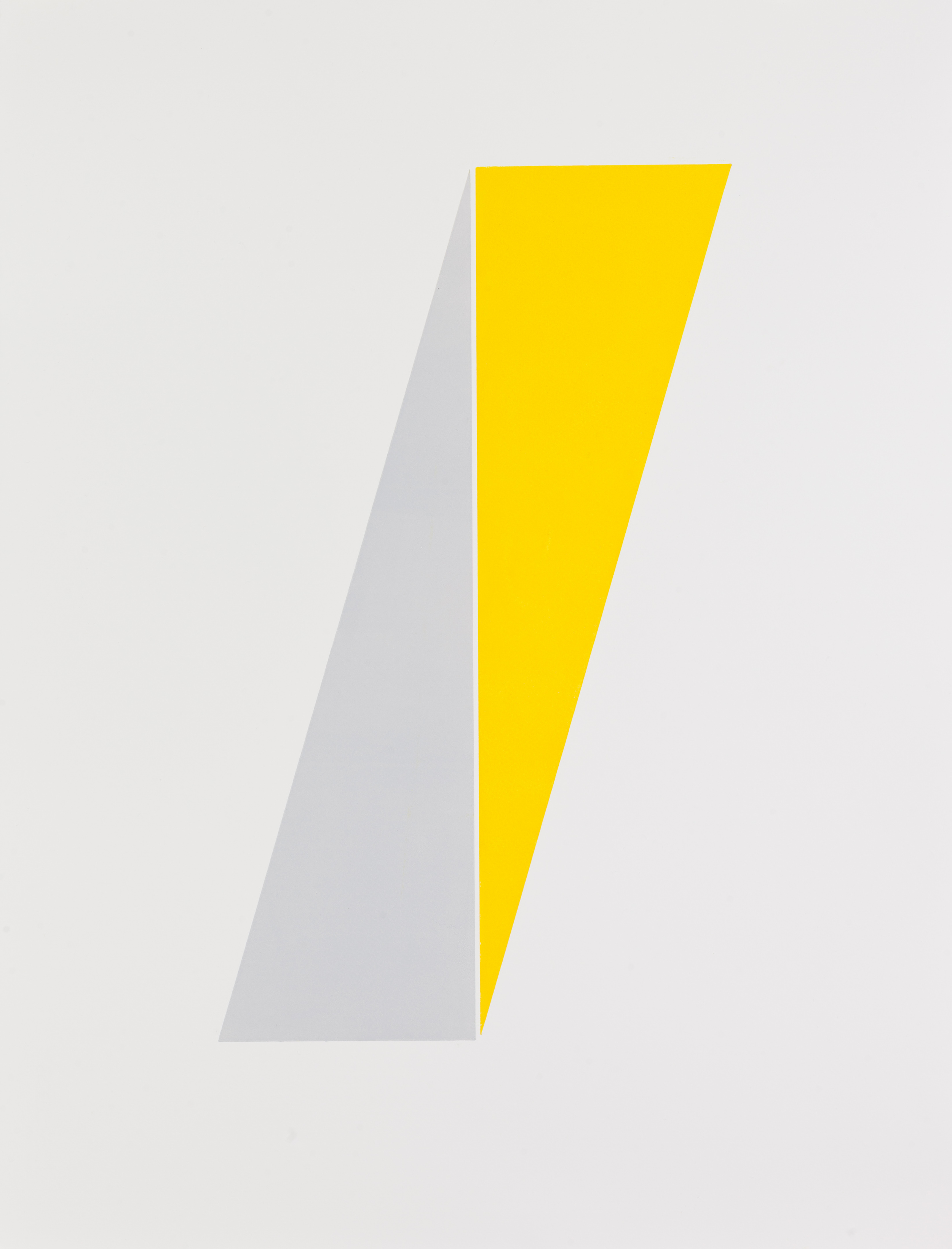 Henry Garfit   Yellow and Steel Grey Composition   Relief print with reclaimed aluminium   76cm x 57cm   Edition of 10   £595 framed