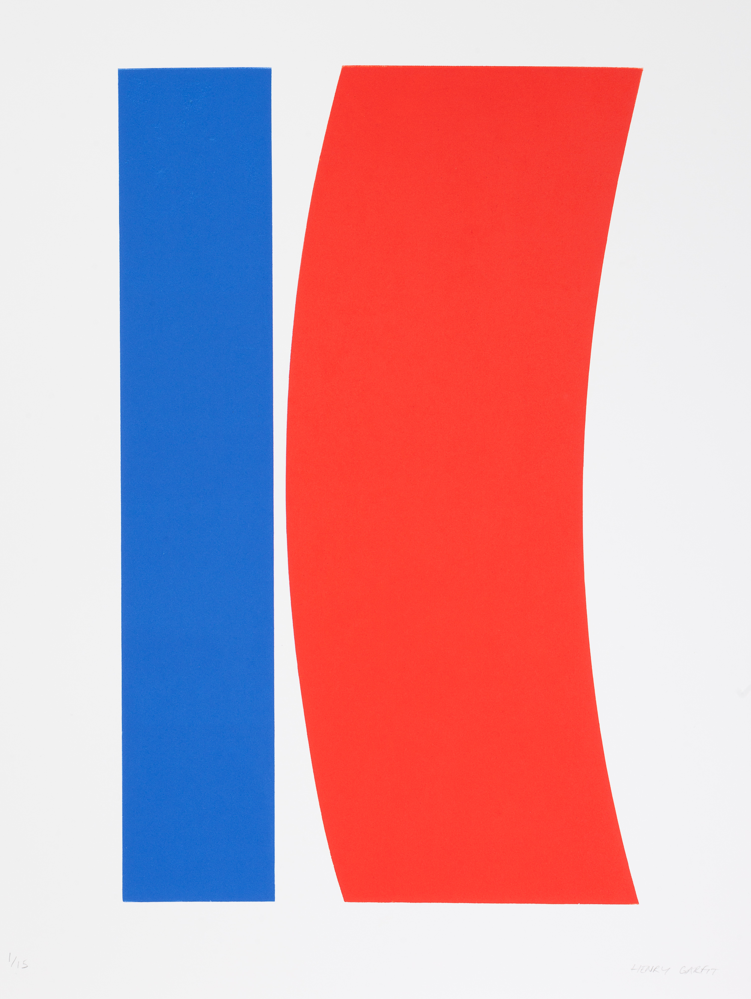 Henry Garfit   Blood Red Curve and Blue   76 x 57 cm   Relief print 1 / 10   £ 595.00