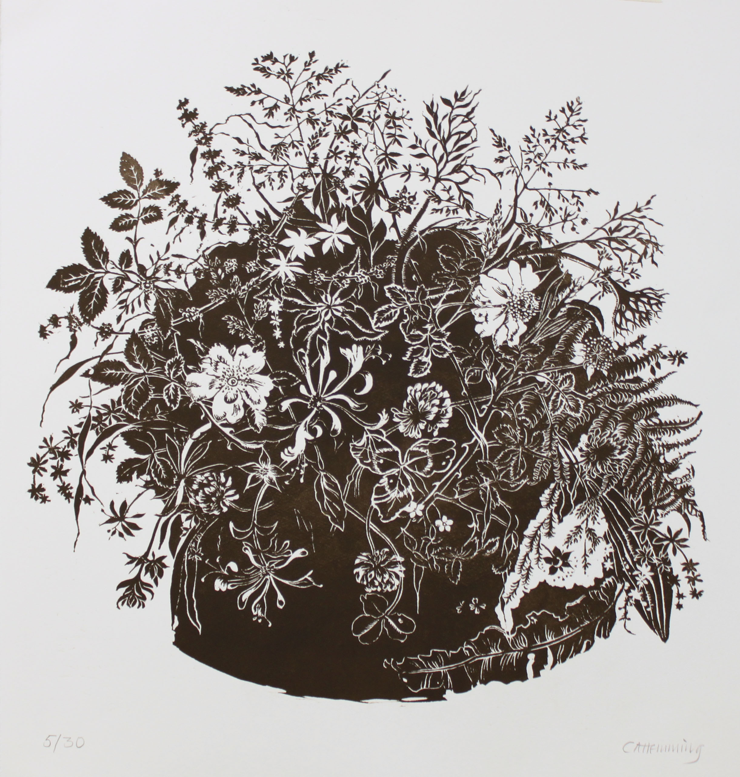 Caroline Hemming June Hedgerow 60 x 60 cm limited edition (30) Lino print £ 325.00 £ 385.00 (framed)