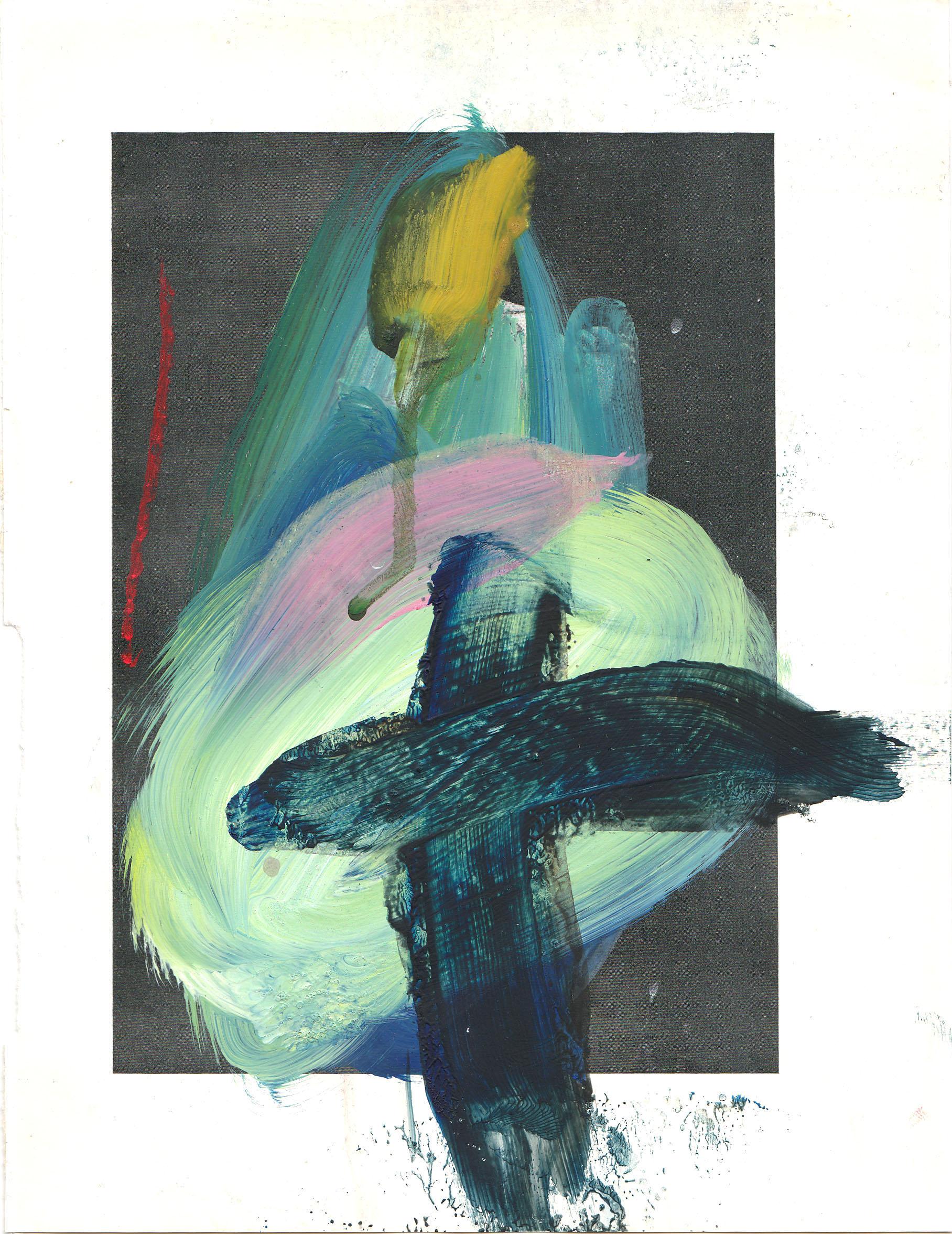 Caroline Pedler Ode to Antoni 15 x 21 cm  acrylic on paper  £ 425