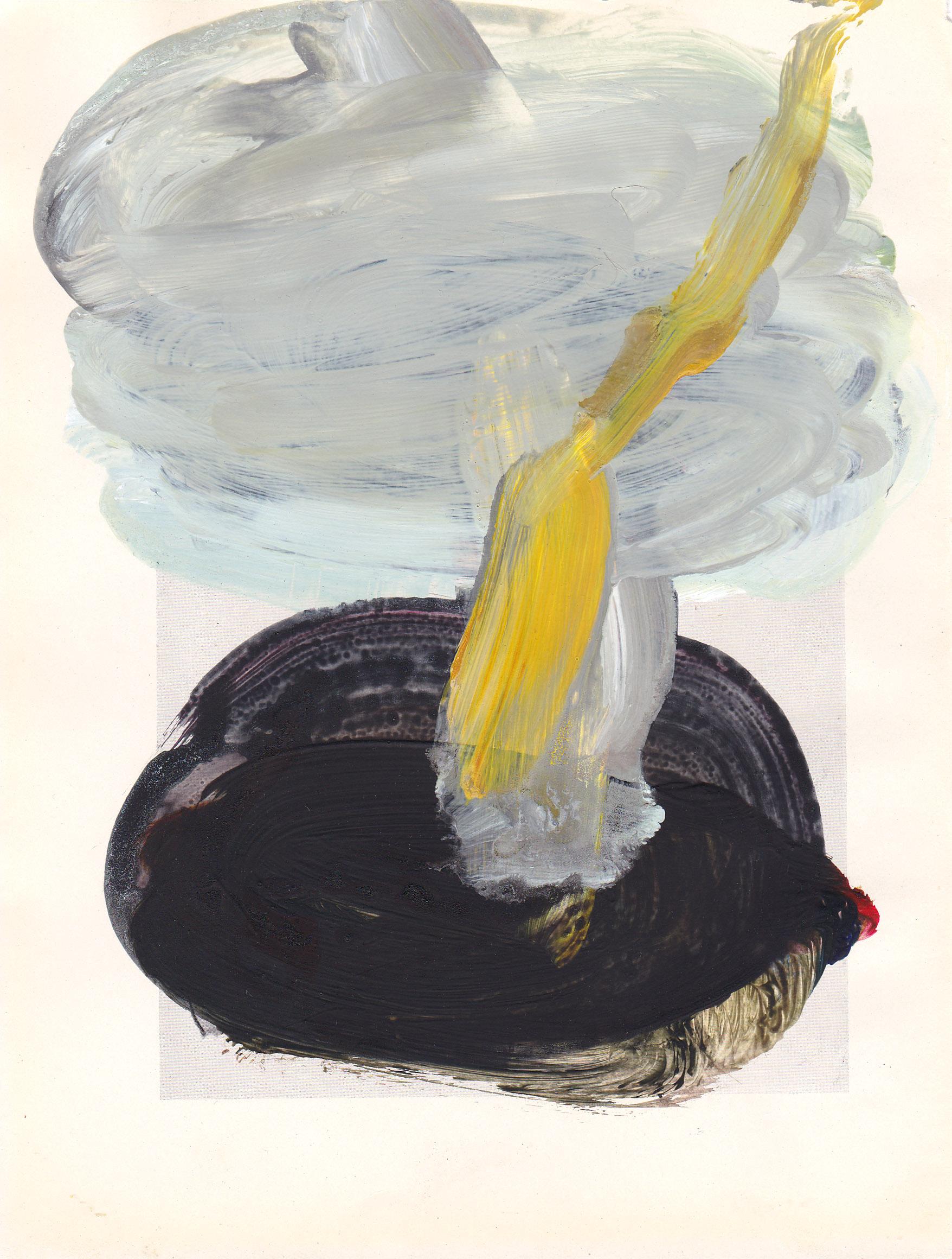 Caroline Pedler All In Time 15 x 21 cm  acrylic on paper  £425
