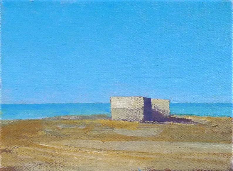Tom Rickman End Building Sicily 15 x 20 cm oil on canvas £575