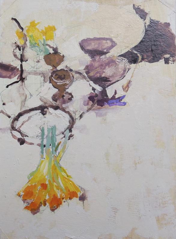 Tom Rickman Tabletop 24 x 10 cm oil on gesso £475