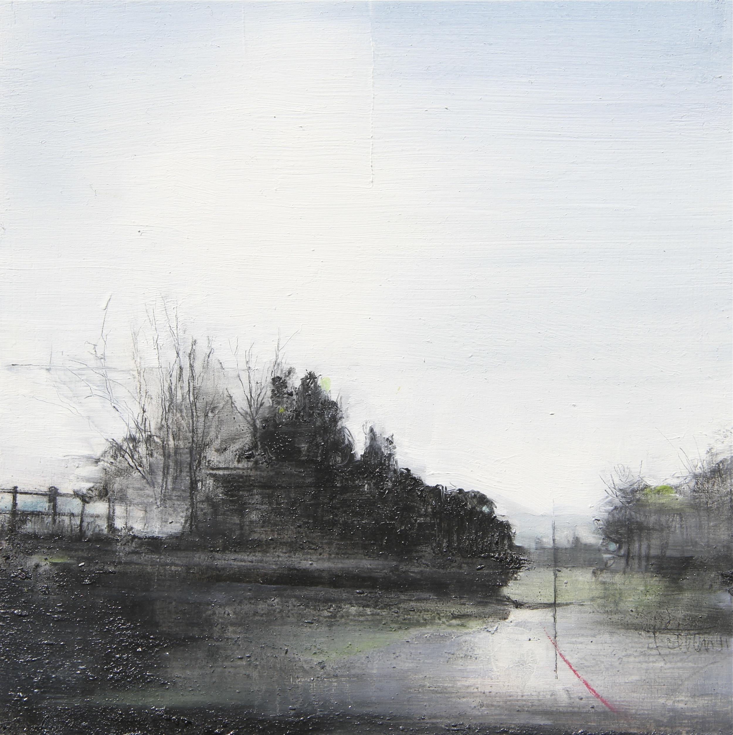 Laurie Steen RWA Landstill 24 - 11 20 x 20 cm graphite & oil on gesso panel £ 440 (framed)
