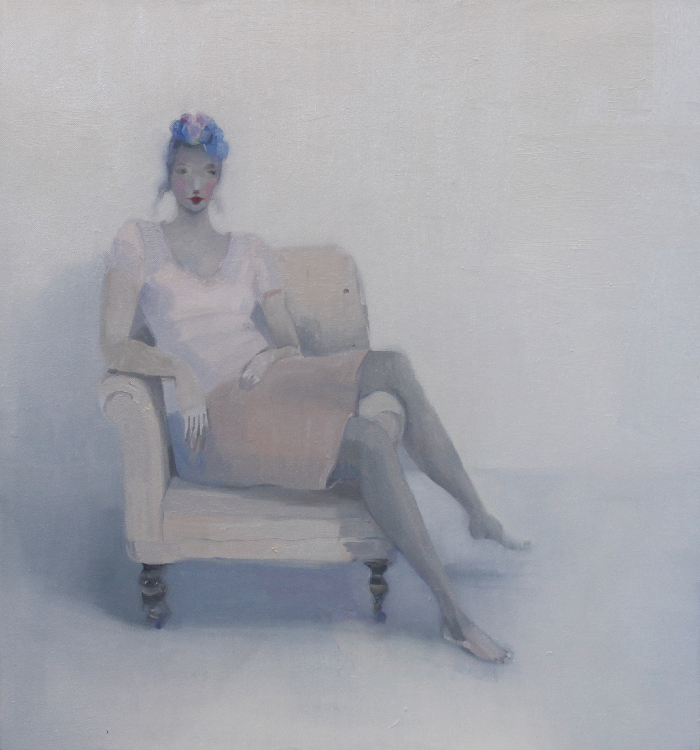 K r i s t i n V e s t g a r d  In Bluebells 60 x 60 cm oil on canvas £ 2500