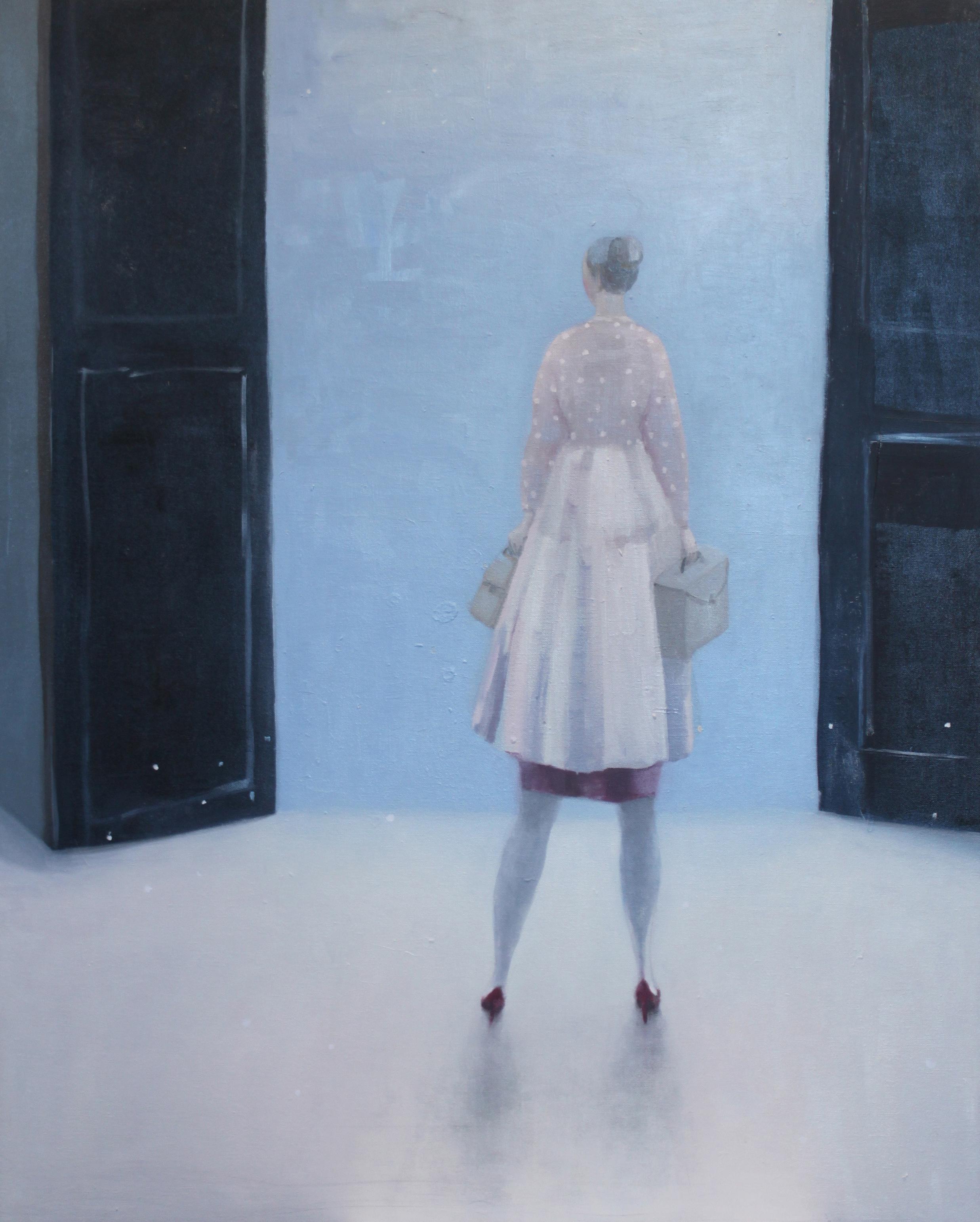 K r i s t i n V e s t g a r d  Leaving Footprints 80 x 100 cm oil on canvas £ 3800