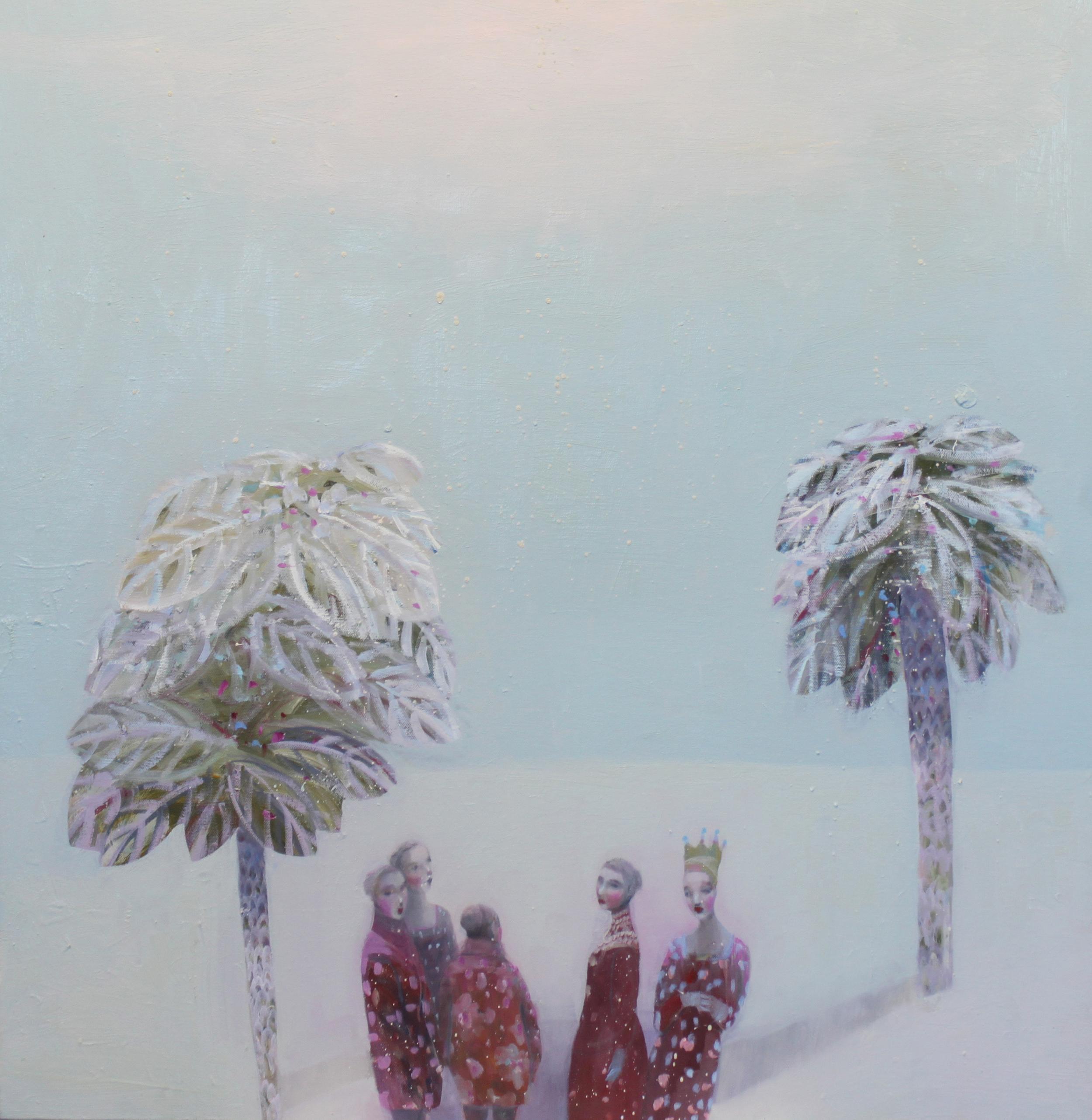 K r i s t i n V e s t g a r d  Utflukt 80 x 80 cm oil on canvas £3500