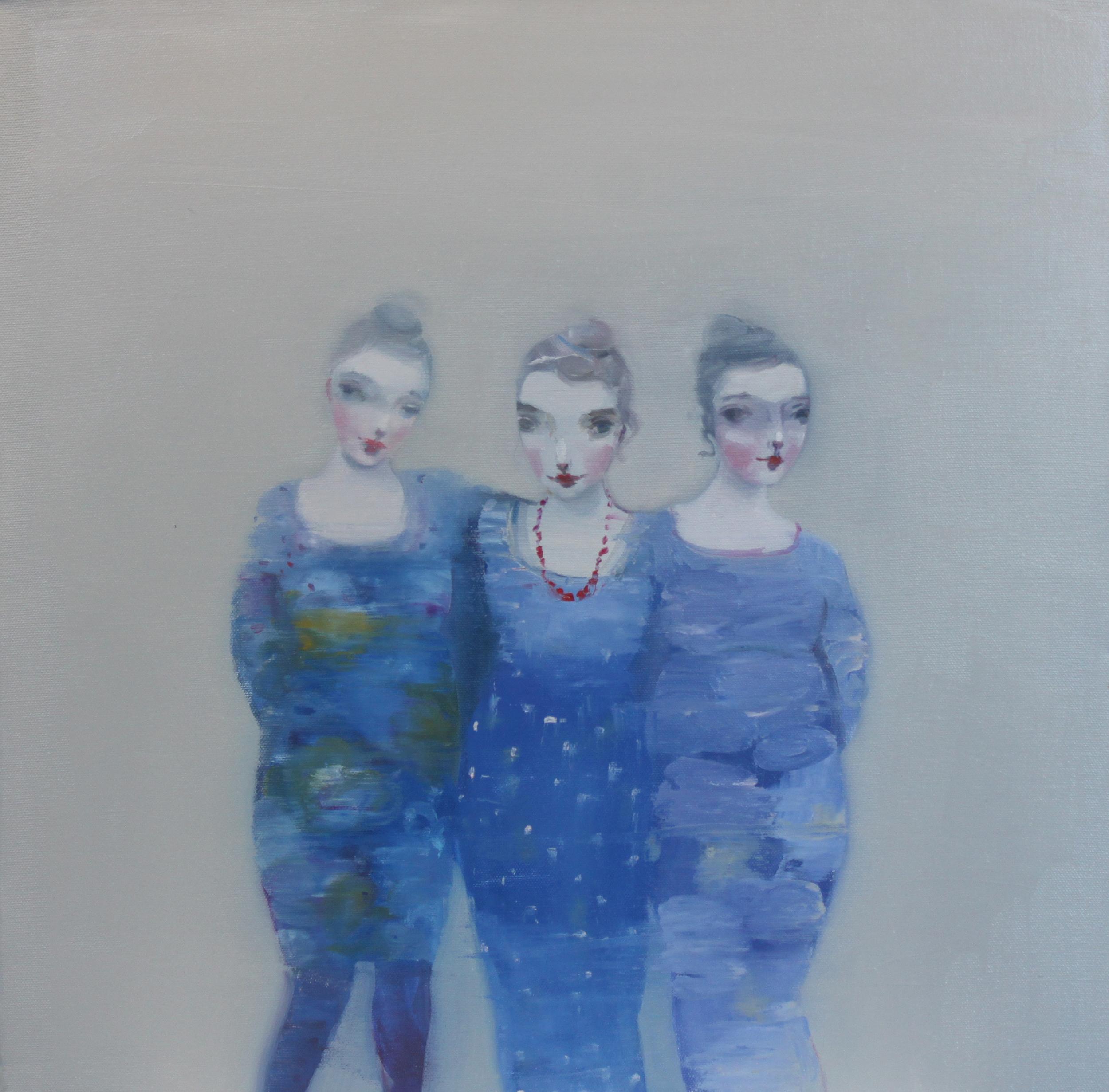 K r i s t i n V e s t g a r d  We Can Help 50 x 50 cm oil on canvas £ 2300