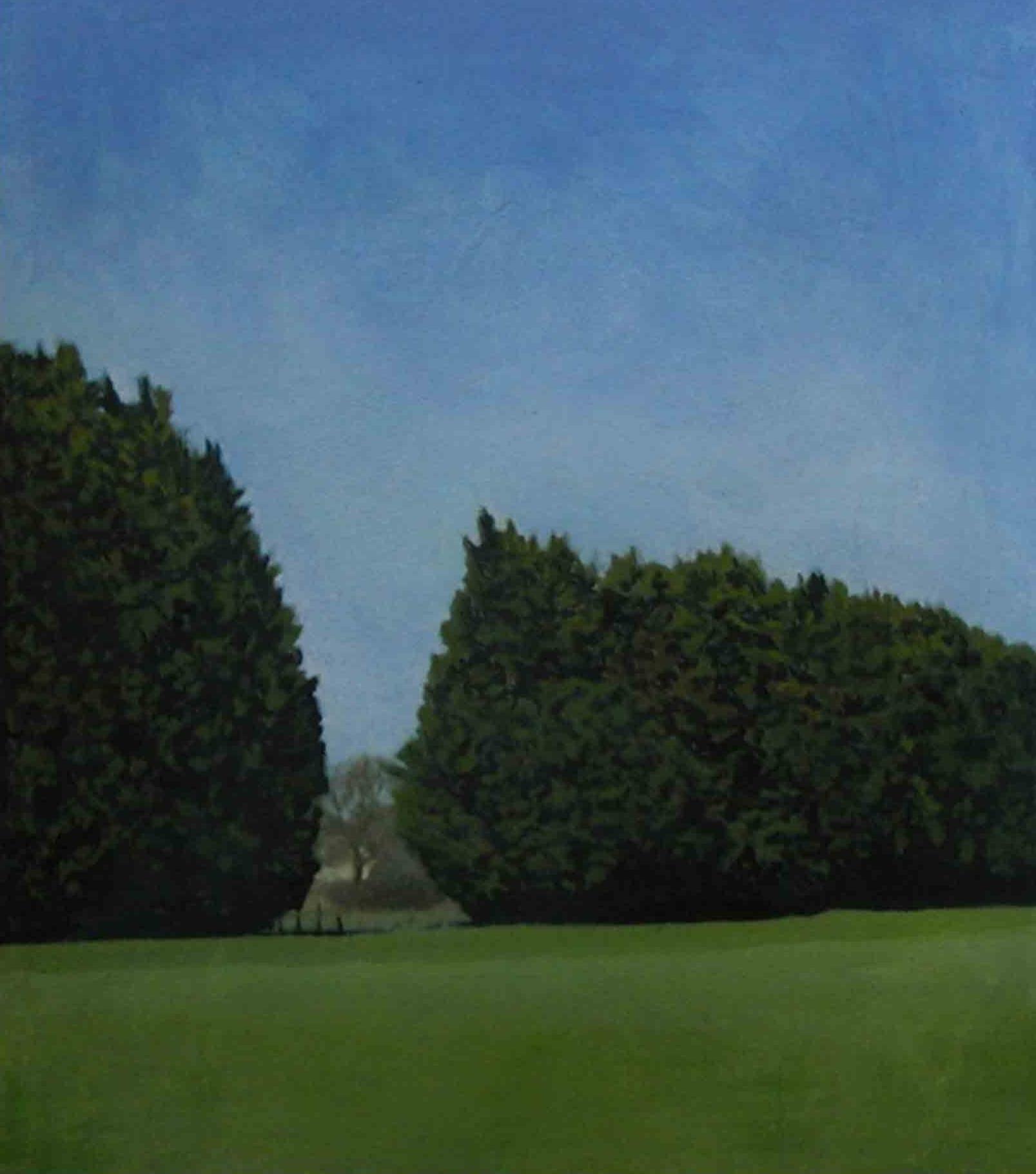 Alistair Teale Wind Break 34 x 38 cm oil on paper S O L D
