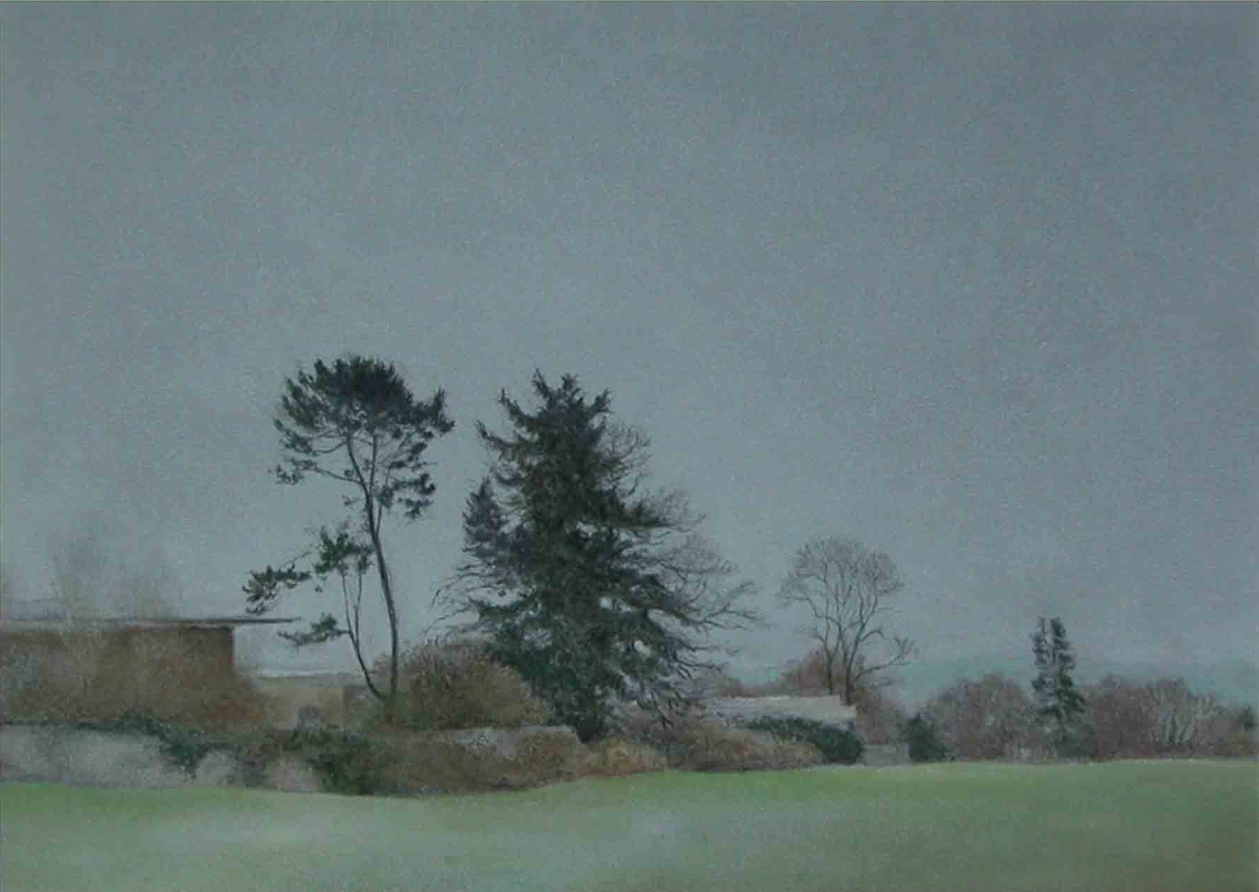 Alistair Teale 11th March 2011 - Tsunami Day 48 x 39 cm chalk pastel on paper £ 500 (framed)