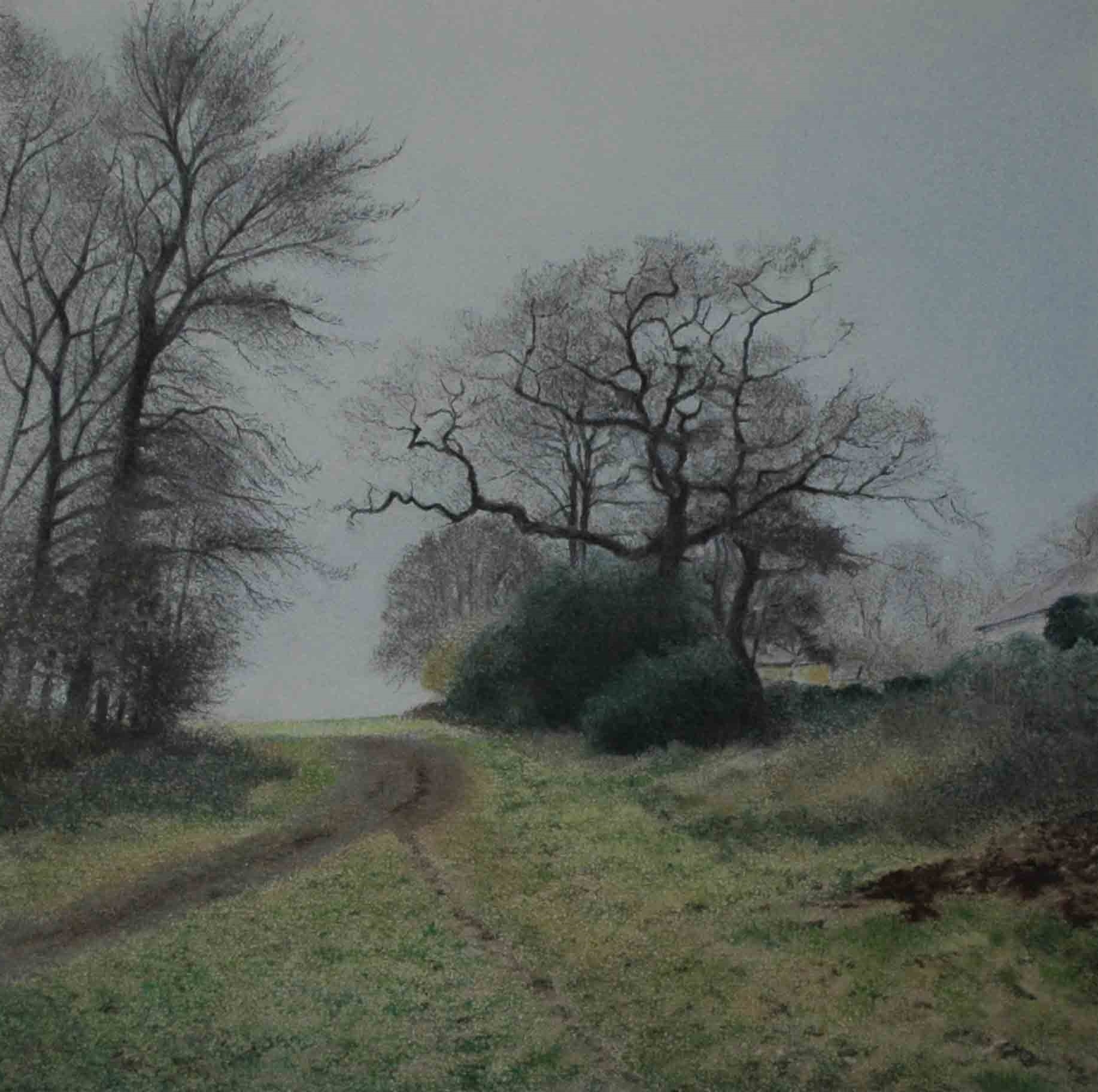 Alistair Teale Before The Storm 40 x 40 cm chalk pastel on paper S O L D