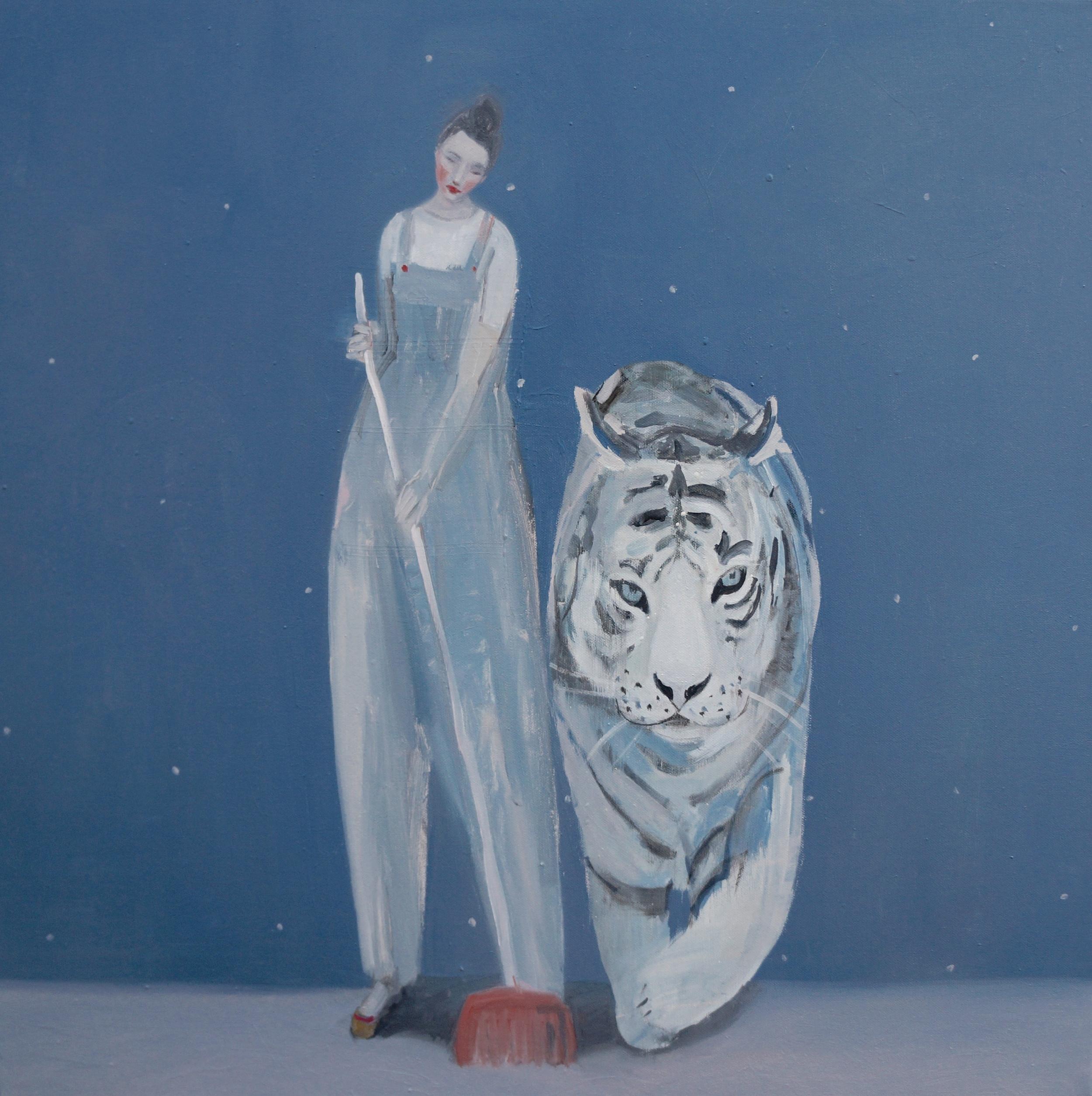 Kristin Vestgard Each Others oil on canvas 70 x 70 cm £ 3000