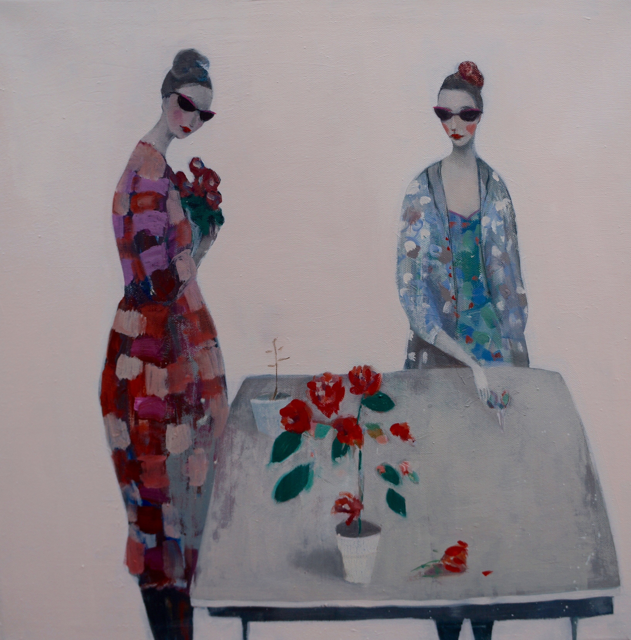Kristin Vestgard Flower shop oil on canvas 50 x 50 cm £ 2500