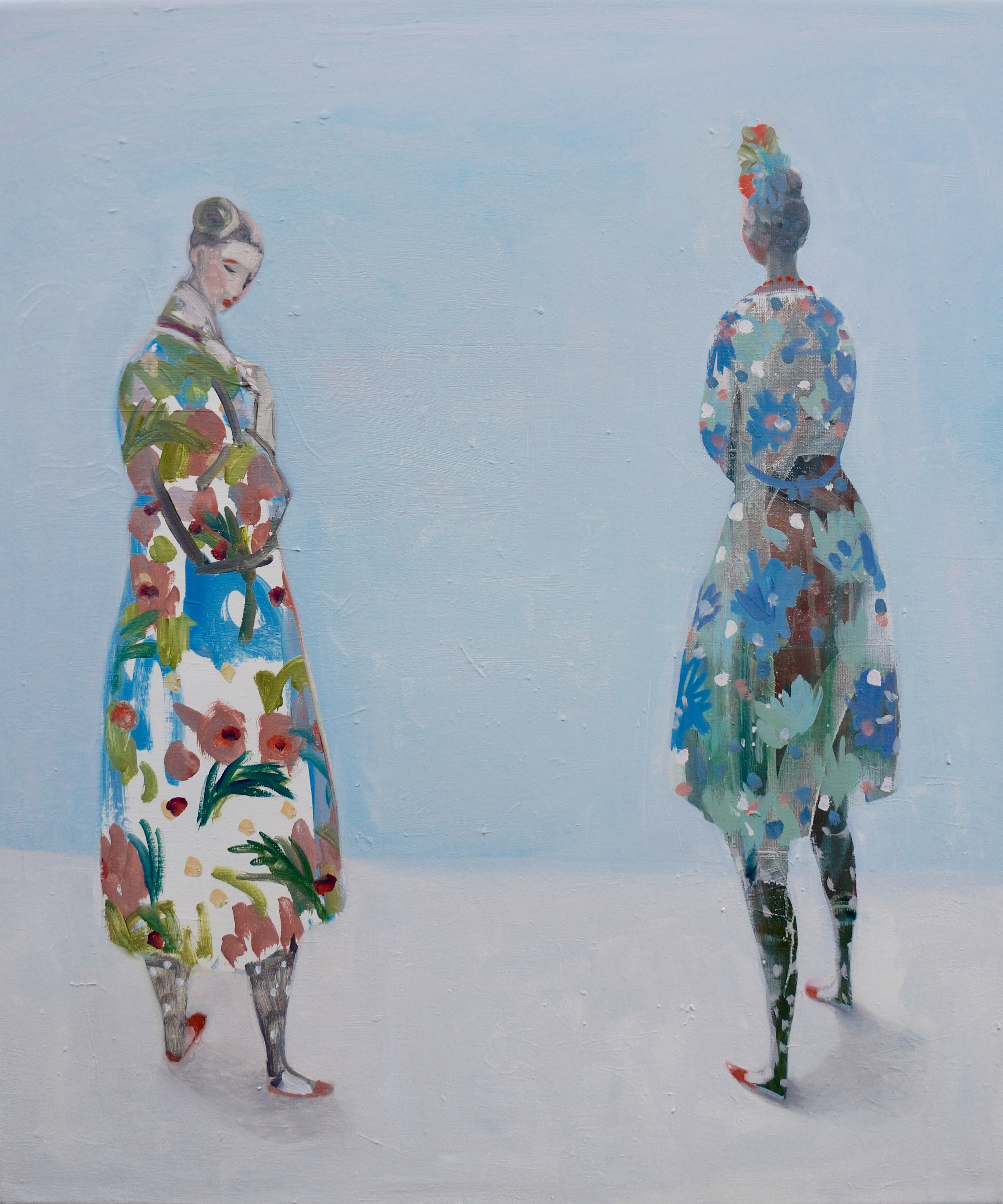 Kristin Vestgard For the love of nature oil on canvas 70 x 60 cm £ 3000