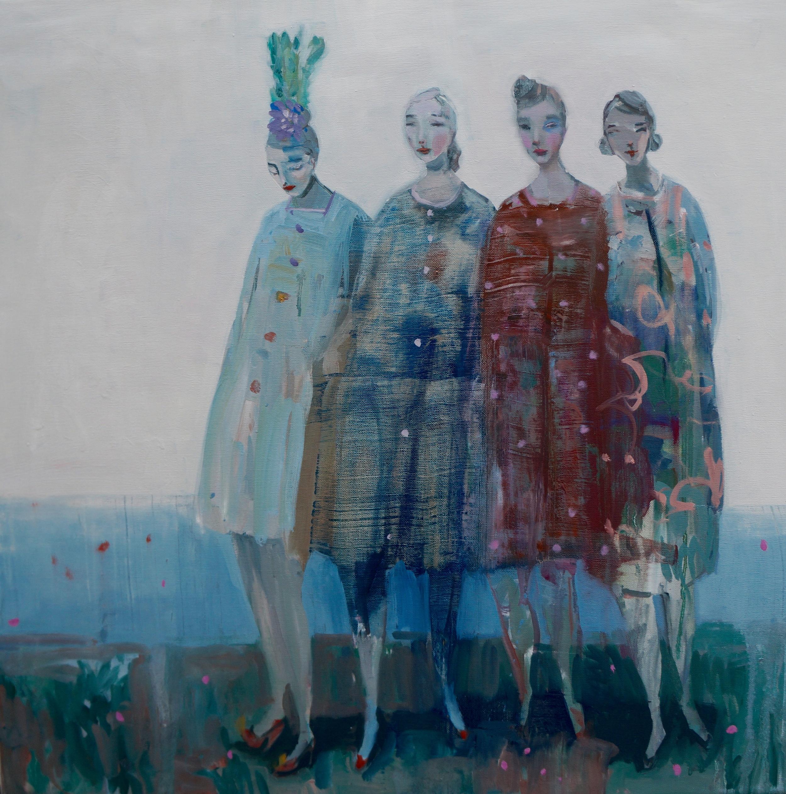 Kristin Vestgard I hear what I hear I see what I see oil on canvas 70 x 70 cm £ 3000