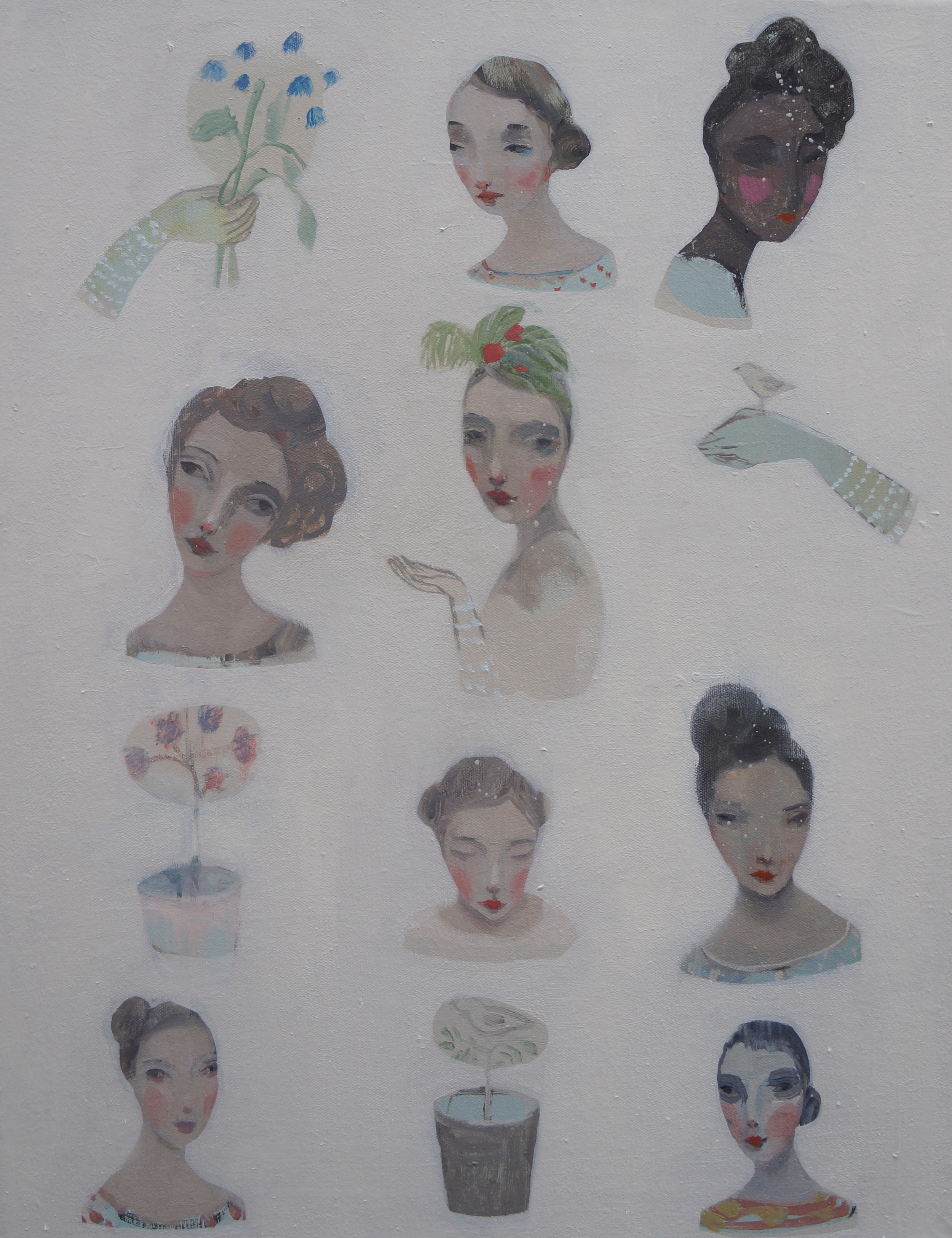 Kristin Vestgard Many faces many traces II oil on canvas 46 x 60 cm £ 2500