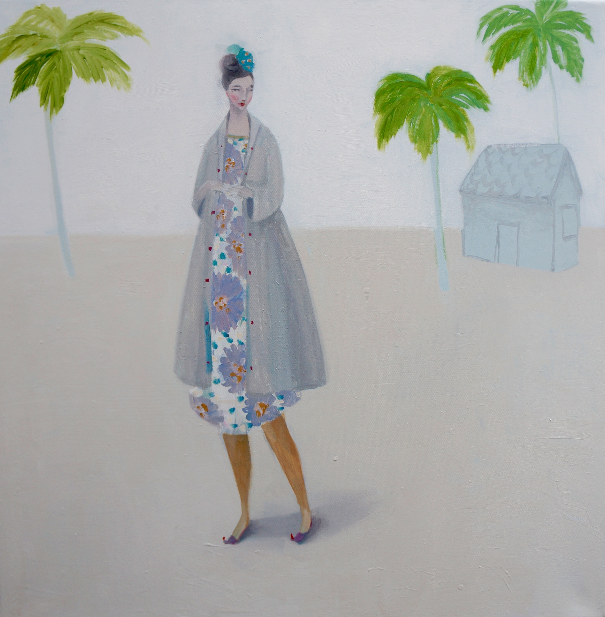 Kristin Vestgard What to keep what to leave oil on canvas 70 x 70 cm  S O L D