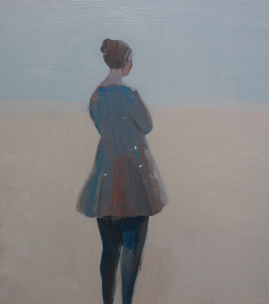 Kristin Vestgard Who are you oil on board 30 x 30 cm (framed) £ 1500
