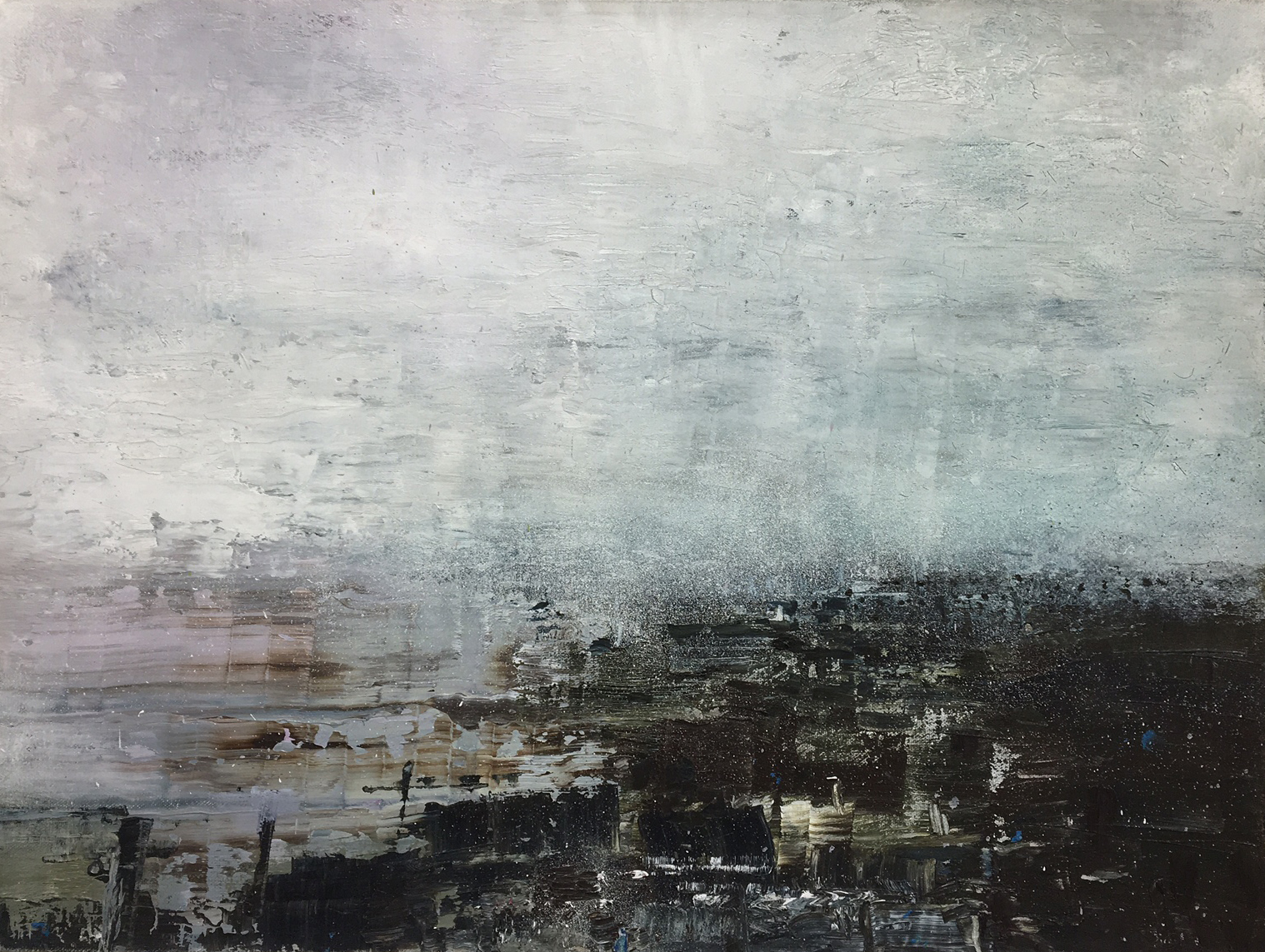 Gareth Edwards RWA  Pink Bay Homecoming 57 x 43 cm oil on canvas £ 1750