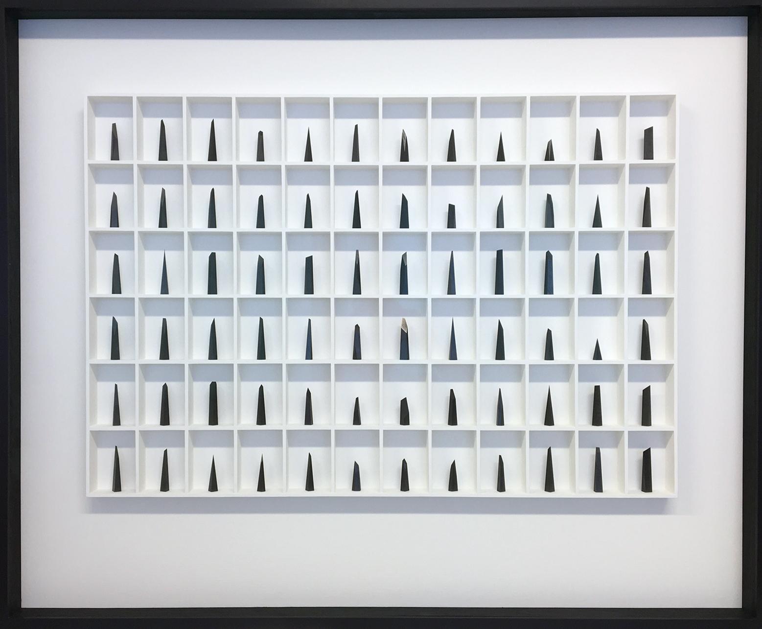 Paul Fry Hope - 72 pieces of graphite 125 x 7 x 103 cm S O L D