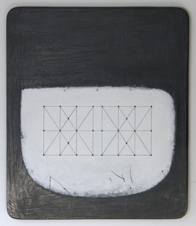 Paul Fry Untitled Space - Box Kite - 28.1 25 x 34 cm oil, graphite & gouache on wood £ 450