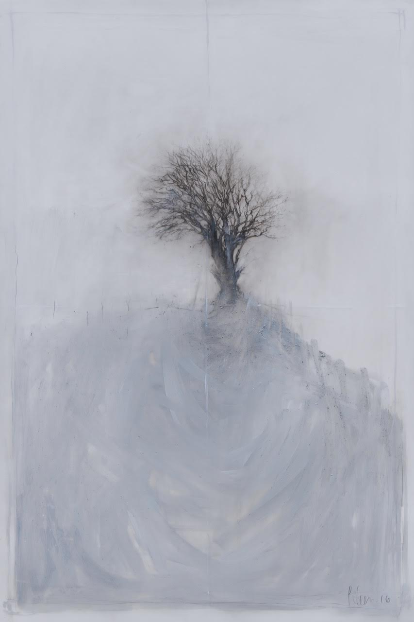 Laurie Steen RWA My Sonnet III Drawing 07-16 oil & conte on mylar custom white frame with archival mount 61 x 92 cm S O L D