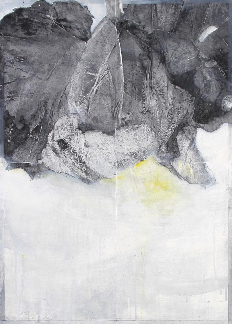 Laurie Steen RWA   Elegy drawing 11-15      50 x 70 cm   graphite & oil on gessoed wood   £1250