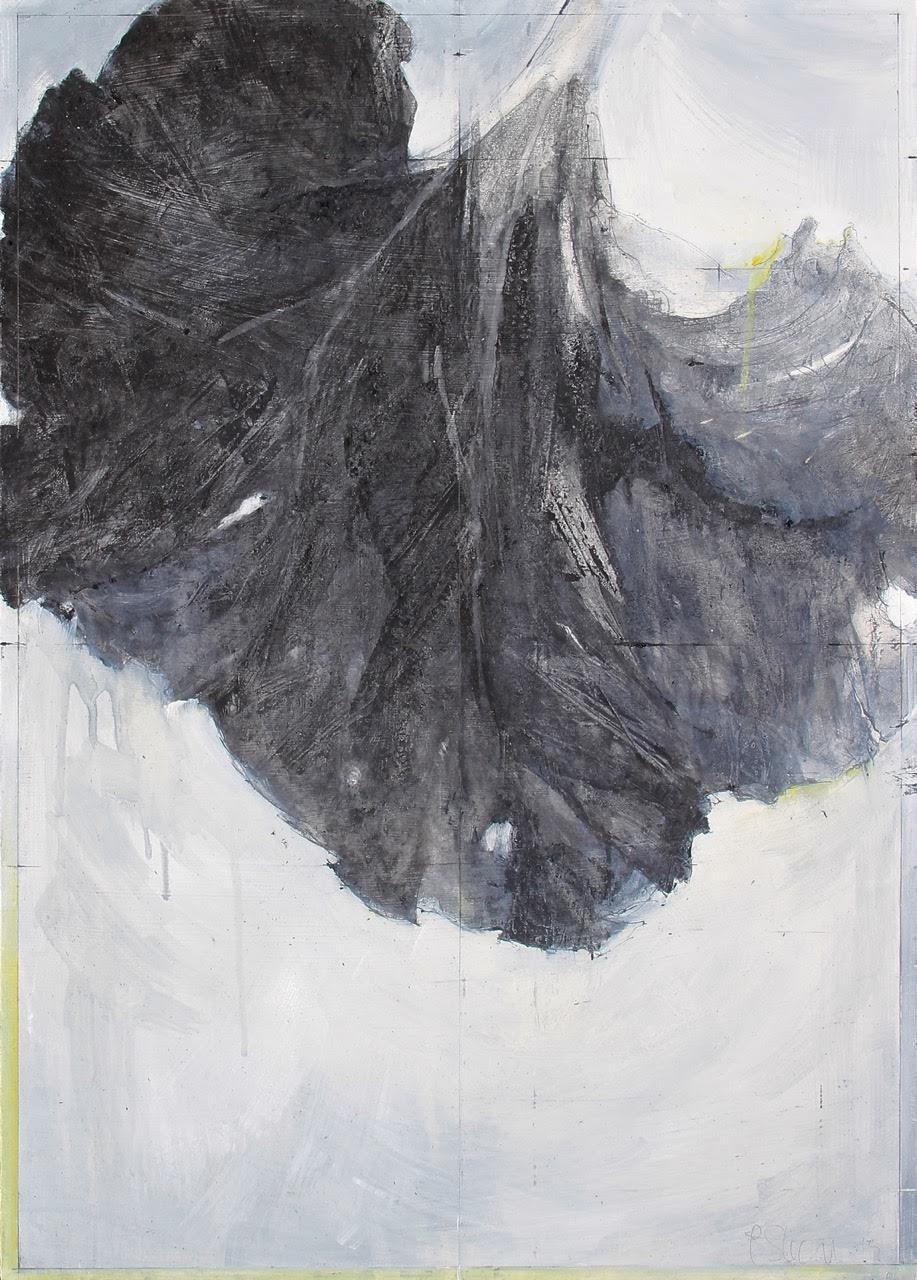Laurie Steen RWA   Elegy drawing 12-15    50 x 70 cm   graphite & oil on gessoed wood    £1250