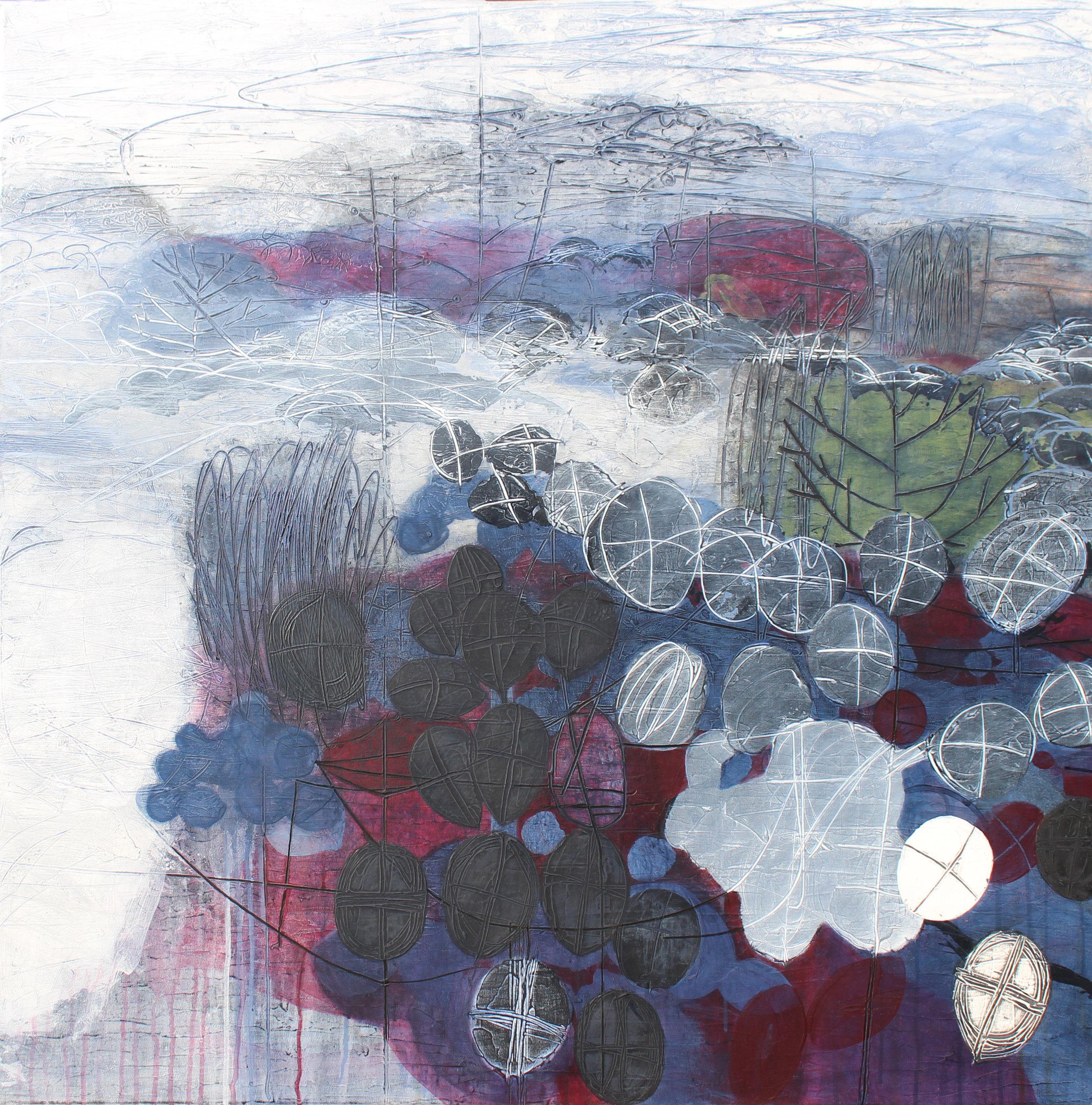 Maggie Matthews Spellbound 100 x 100 cm mixed media on canvas £2950
