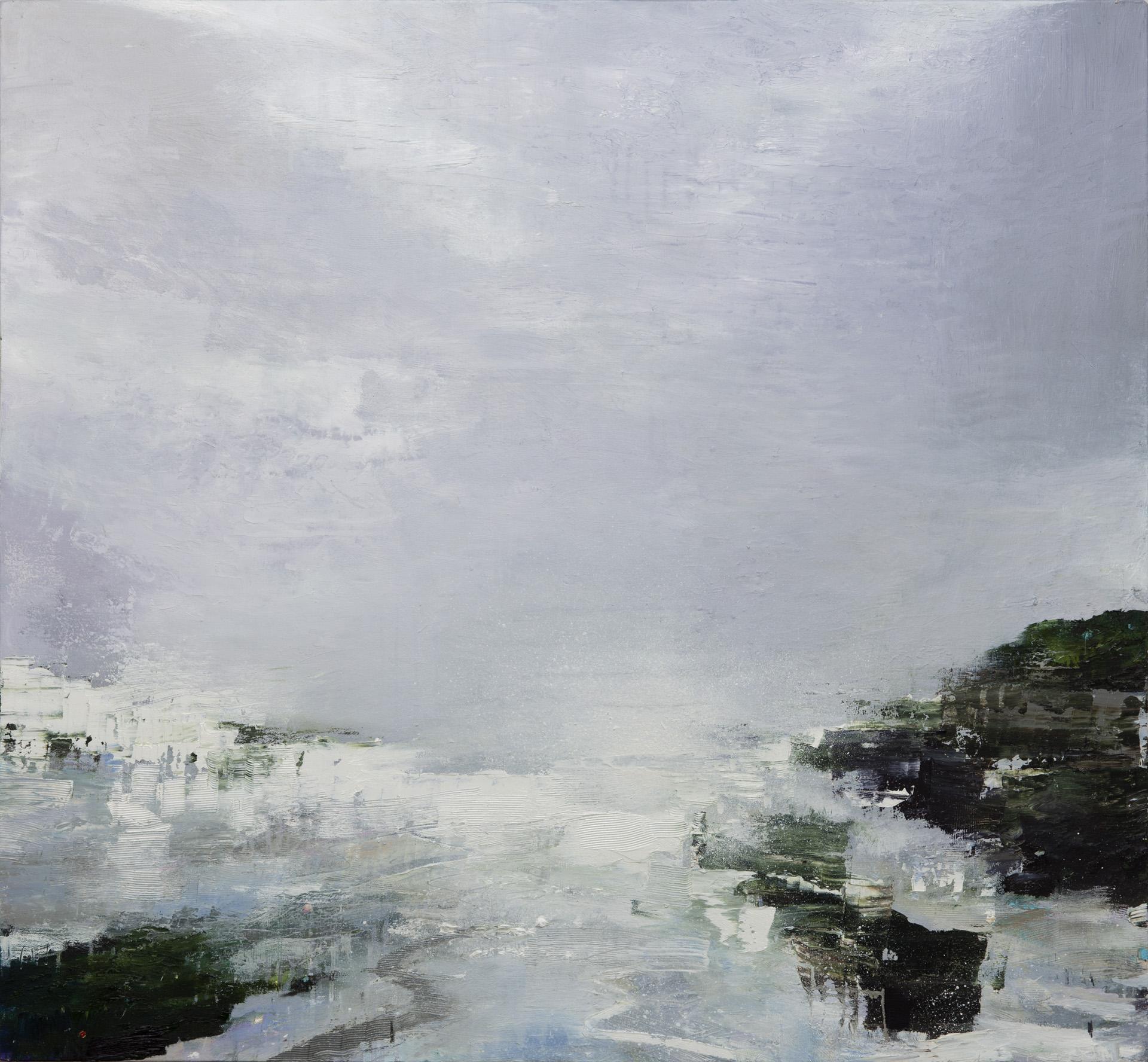 Gareth Edwards RWA Arriving by Sea, Agean Island 90 x 100 cm oil on canvas S O L D