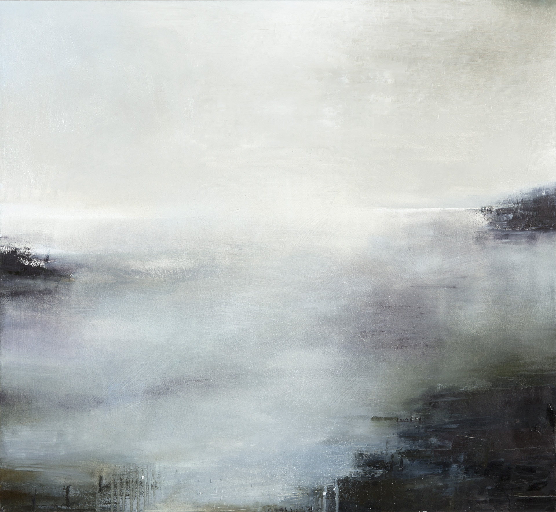 Gareth Edwards RWA Opaline Light, A Gradual Clearing 90 x 100 cm oil on canvas S O L D