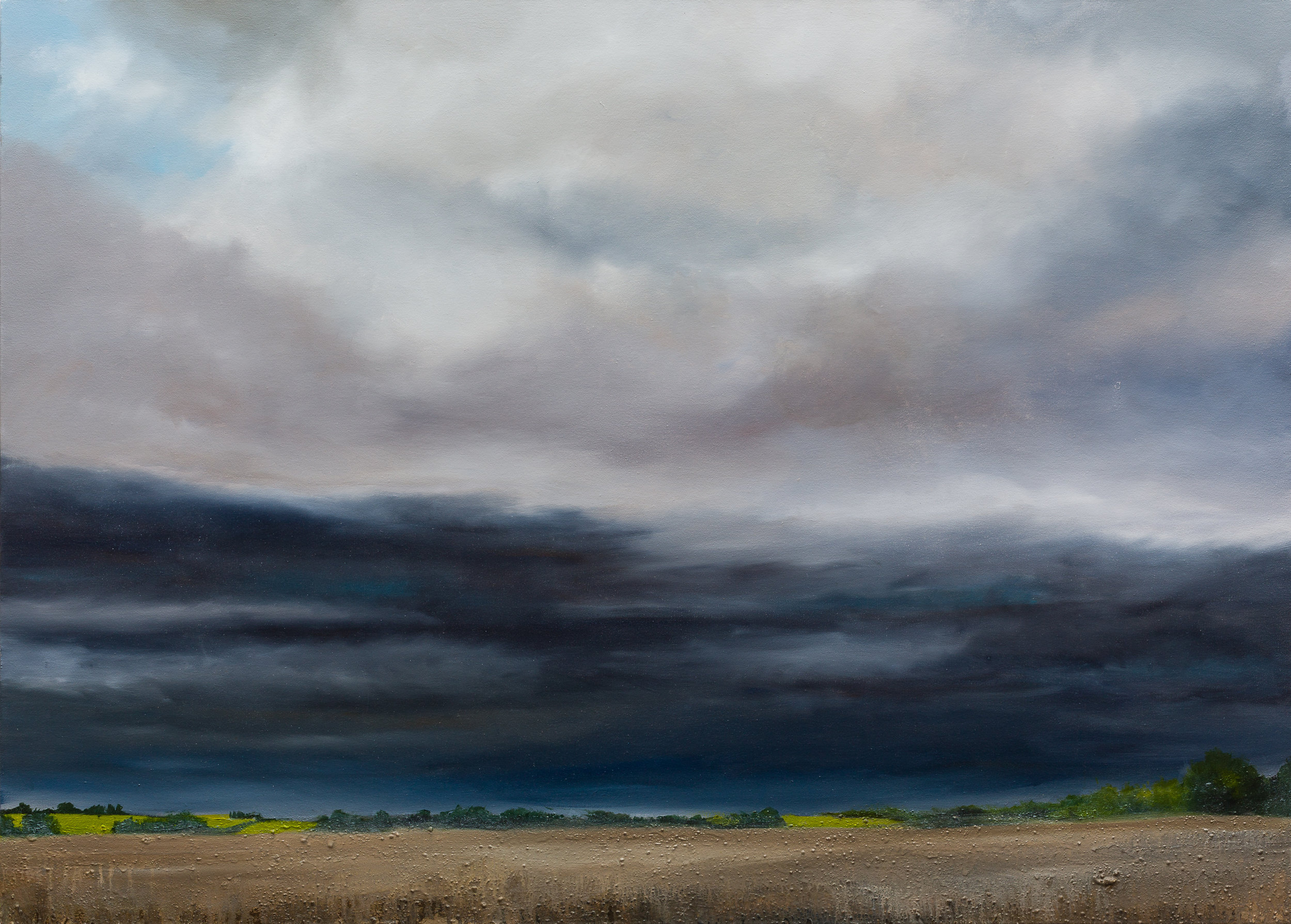 Mark Spray Storm filled air 86x120cm oil & mixed media £4250