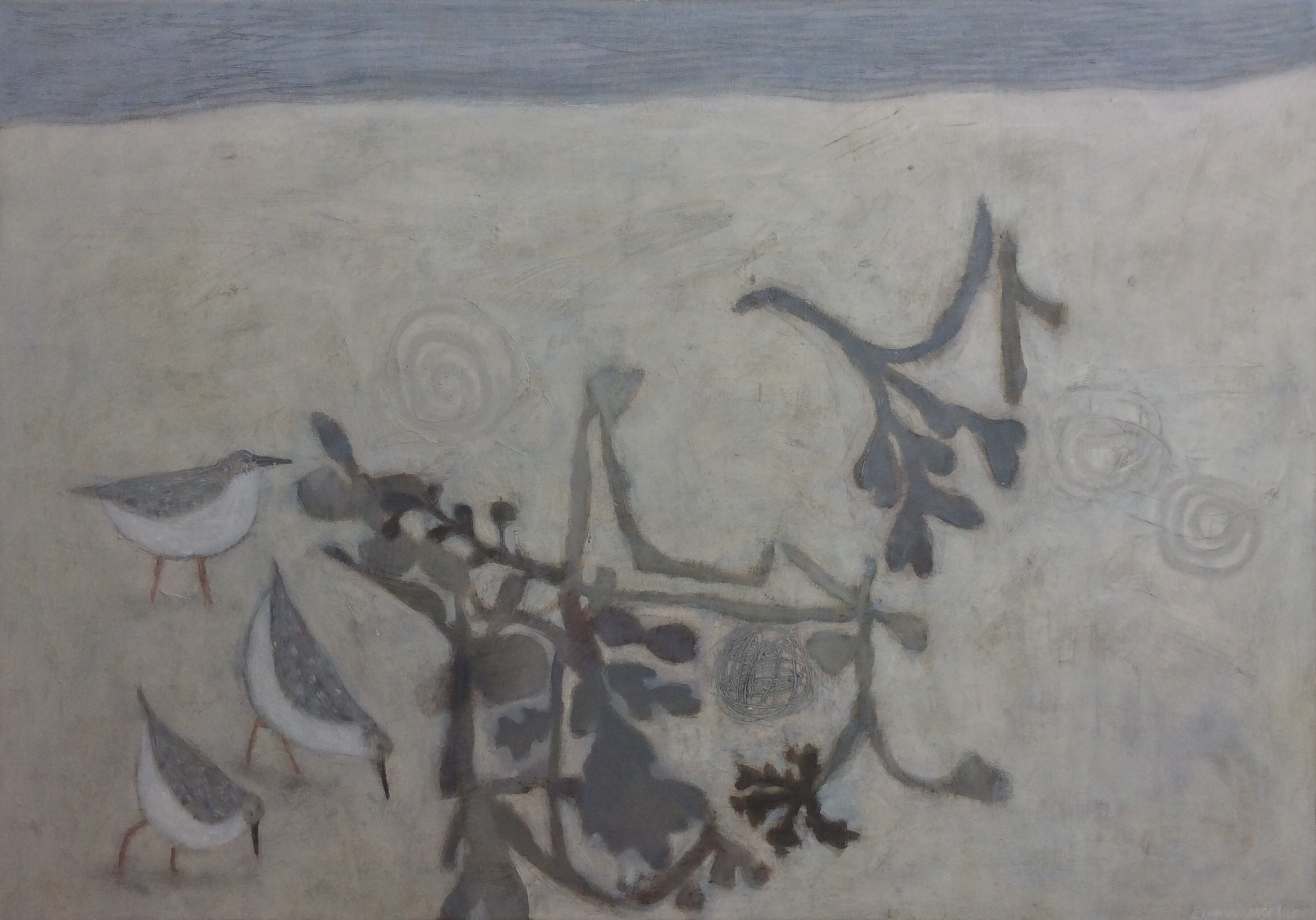 Emma McClure Seaweed and Sandpipers 70 x 100 cm oil on canvas £ 4000