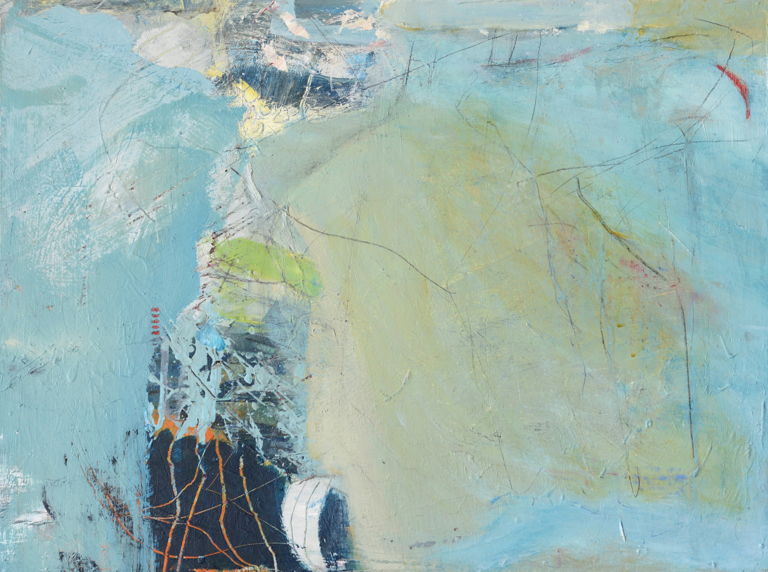 David Mankin 'End of the Land' 46 x 60 cm acrylic & mixed media on canvas £ 850