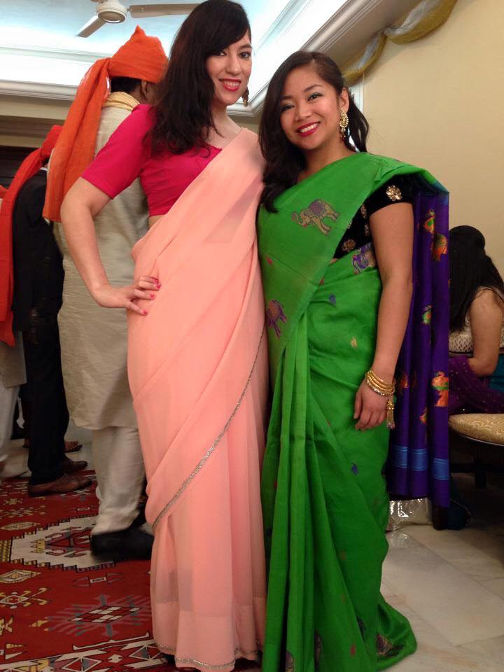 Steena & I in Mumbai, 2014