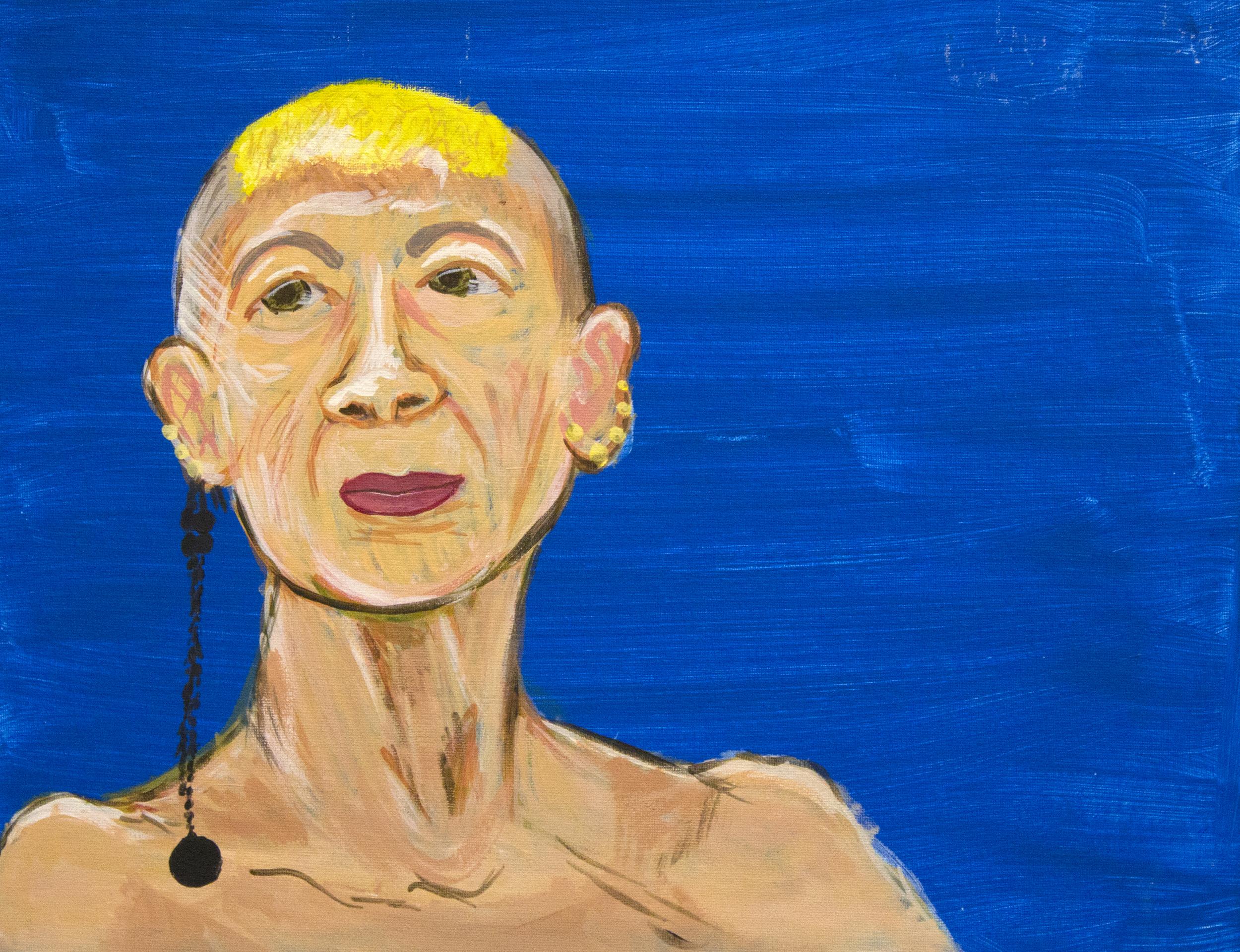 Ellen  2012, acrylic on canvas, 16in x 24in