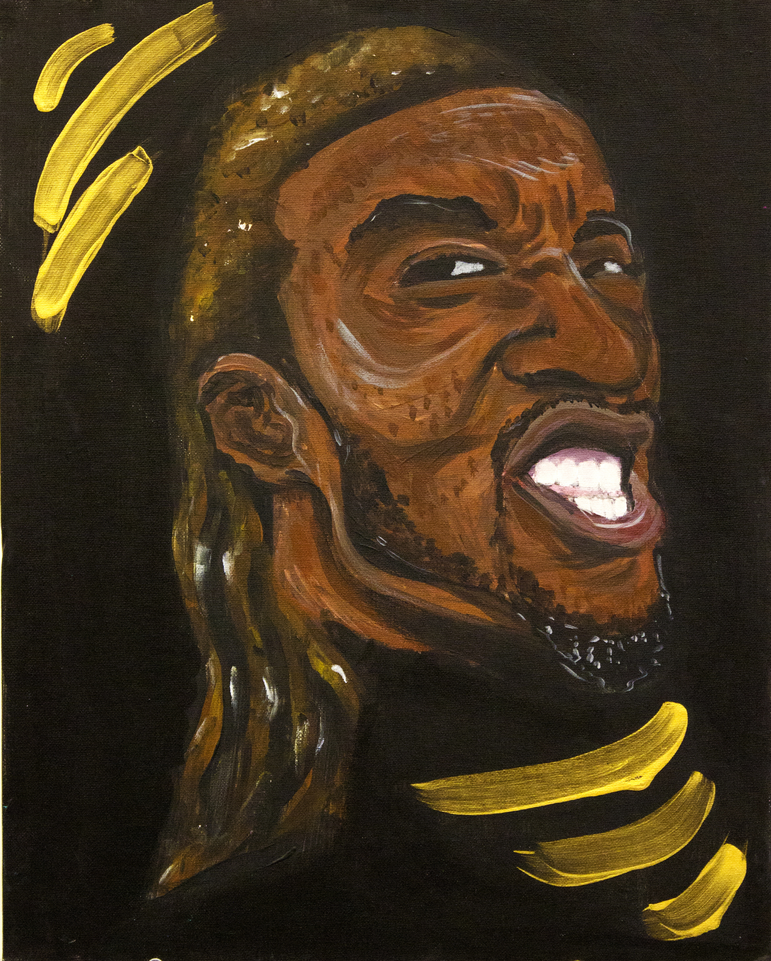 More Than Black (Yahdon)  2012, acrylic on canvas, 18in x 24in